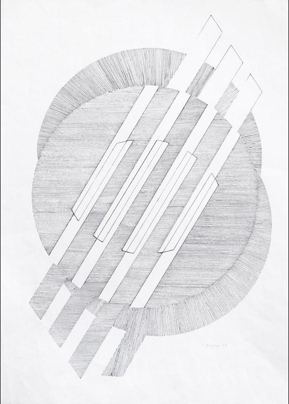 Senza titolo, 1973  china su carta, 65x45,5cm