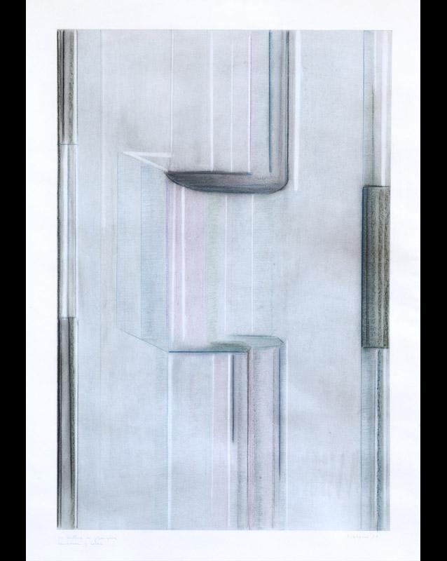 Sensazione di colore, 1977  matite e pastelli su carta, 70x50 cm