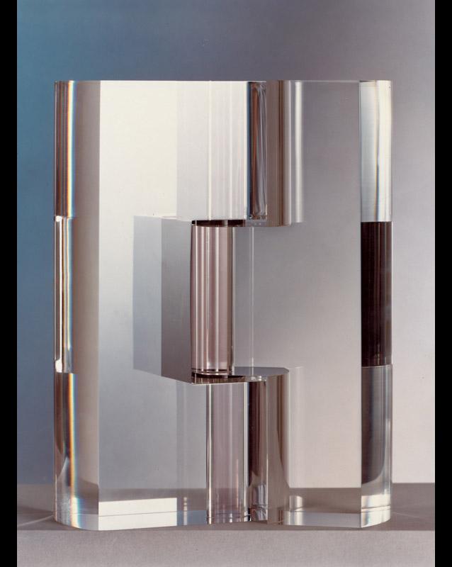 Incastro,  1978   plexiglas trasparente, 28x20x5 cm