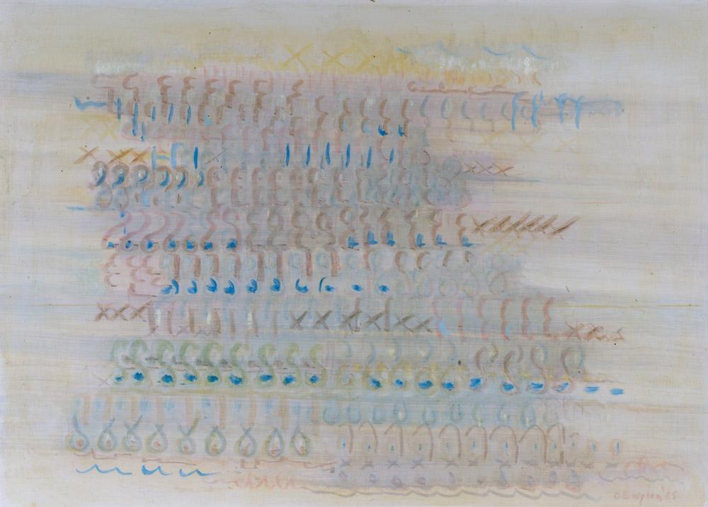 Pittura tage  s, 1985  olio su tela, 70x100 cm