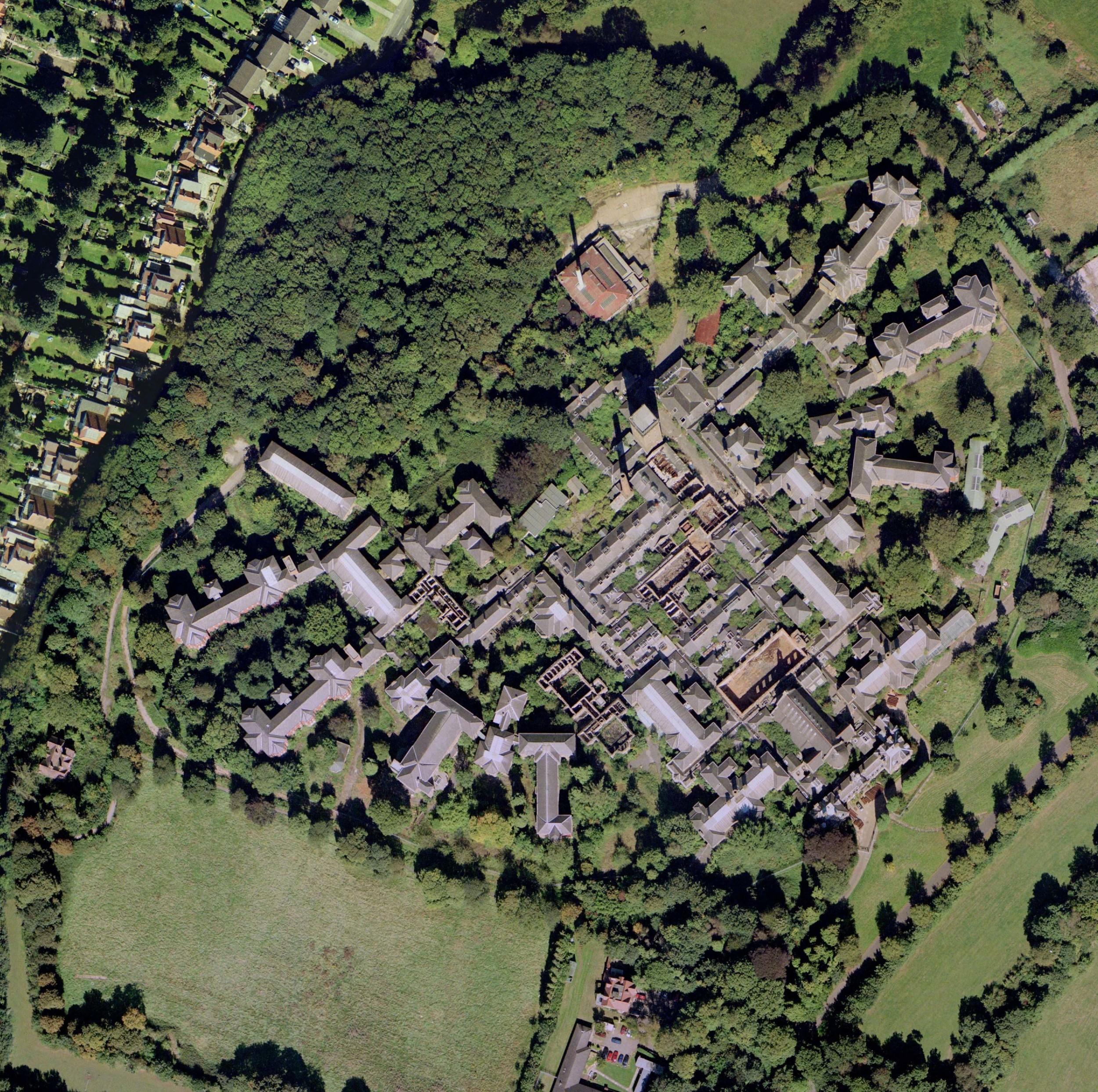 aerial photo, taken before the vincent/vanbrugh ward fire