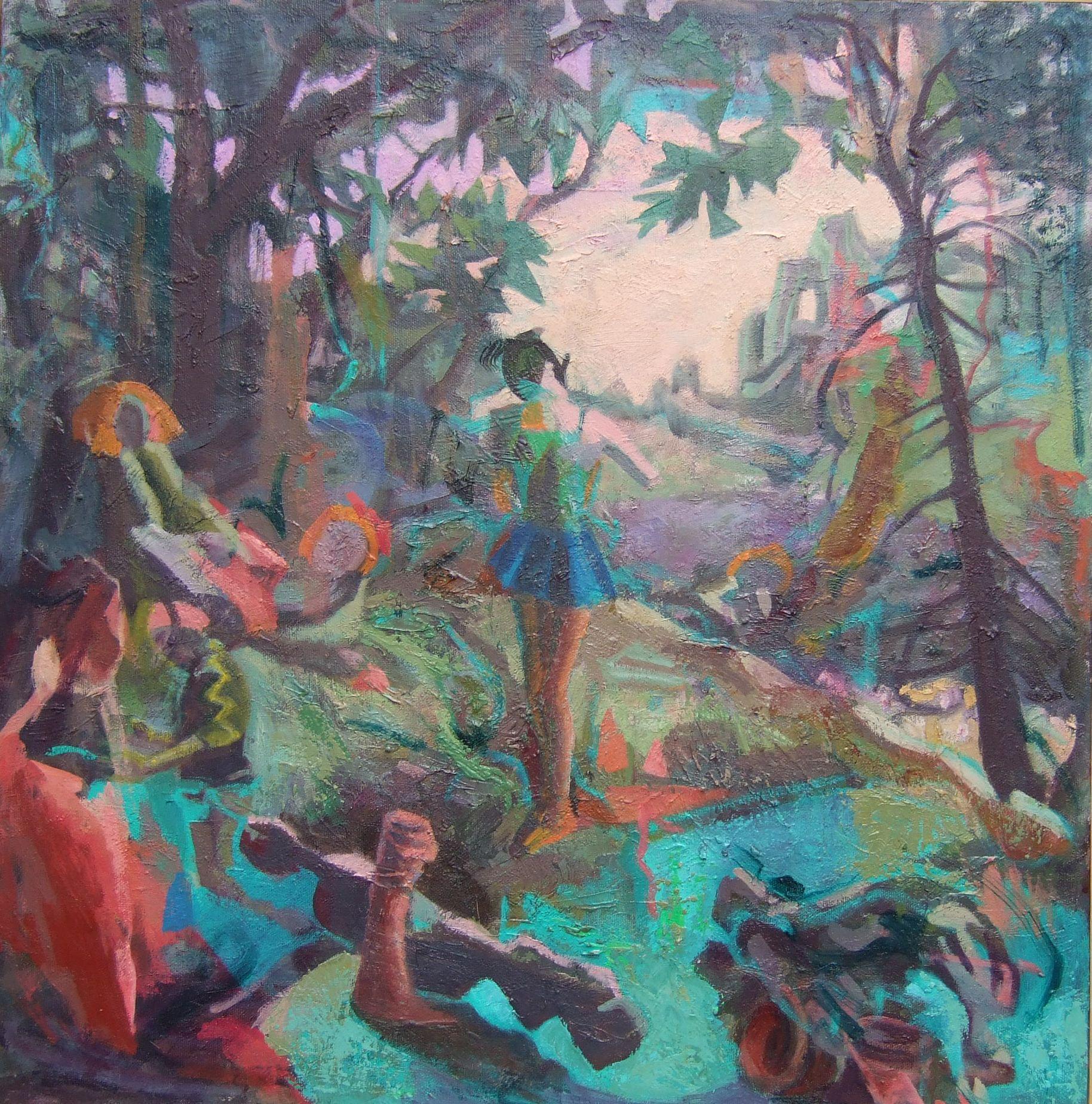 """Perils"", 24"" x 24"", oil on canvas"