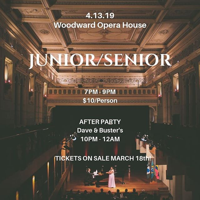 Don't wait to get your tickets for Junior Senior! This is the last week to buy. They are on sale in the caf lobby today, Wednesday, and Friday at lunch and dinner through this week!