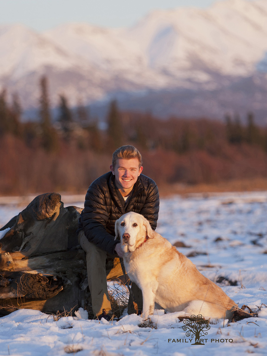 Anchorage High School Senior Pet Photography