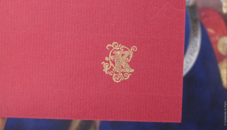 K Letter Stamp