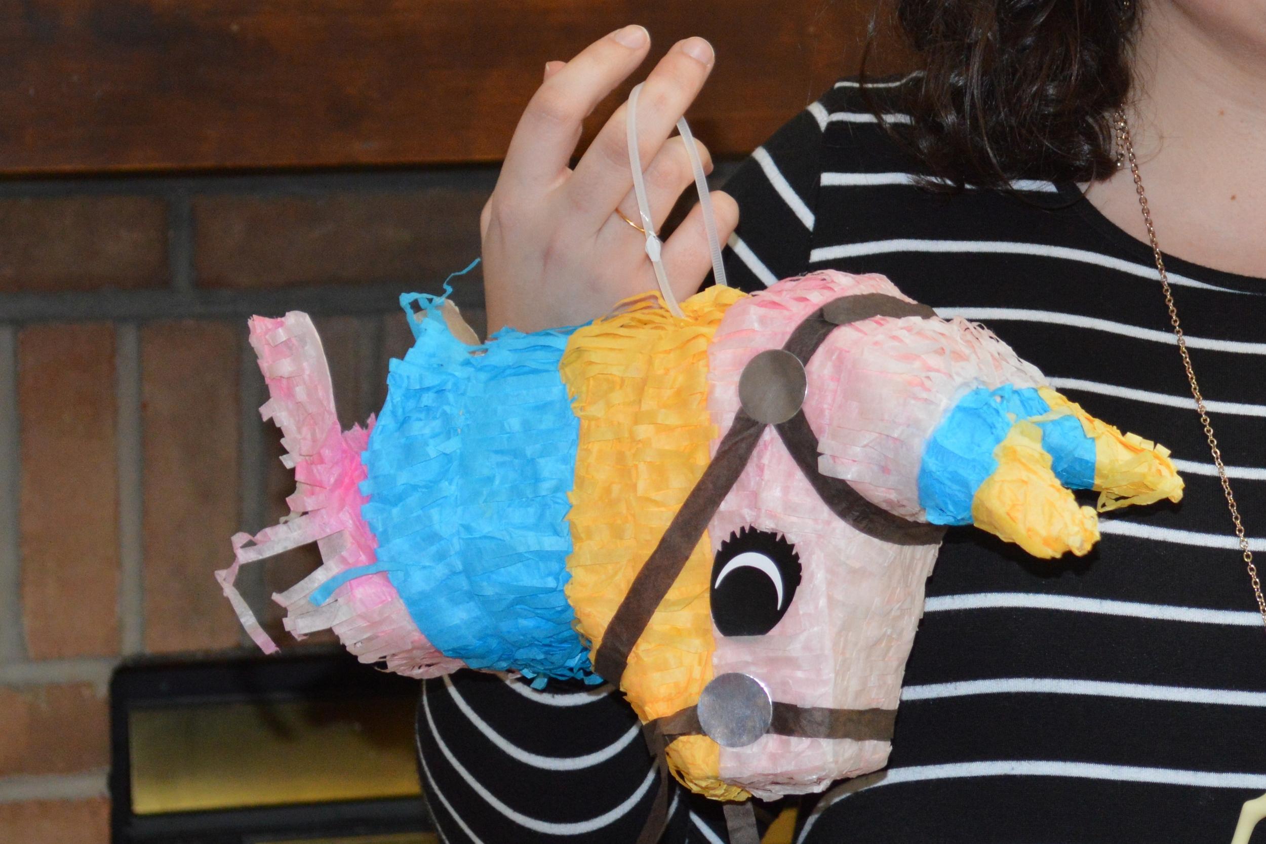 A Rosy Birthday Party pinata head