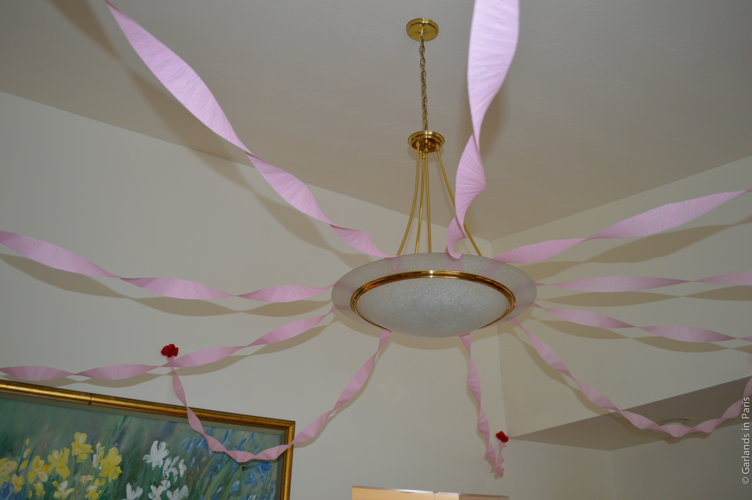 A Rosy Birthday Party streamers