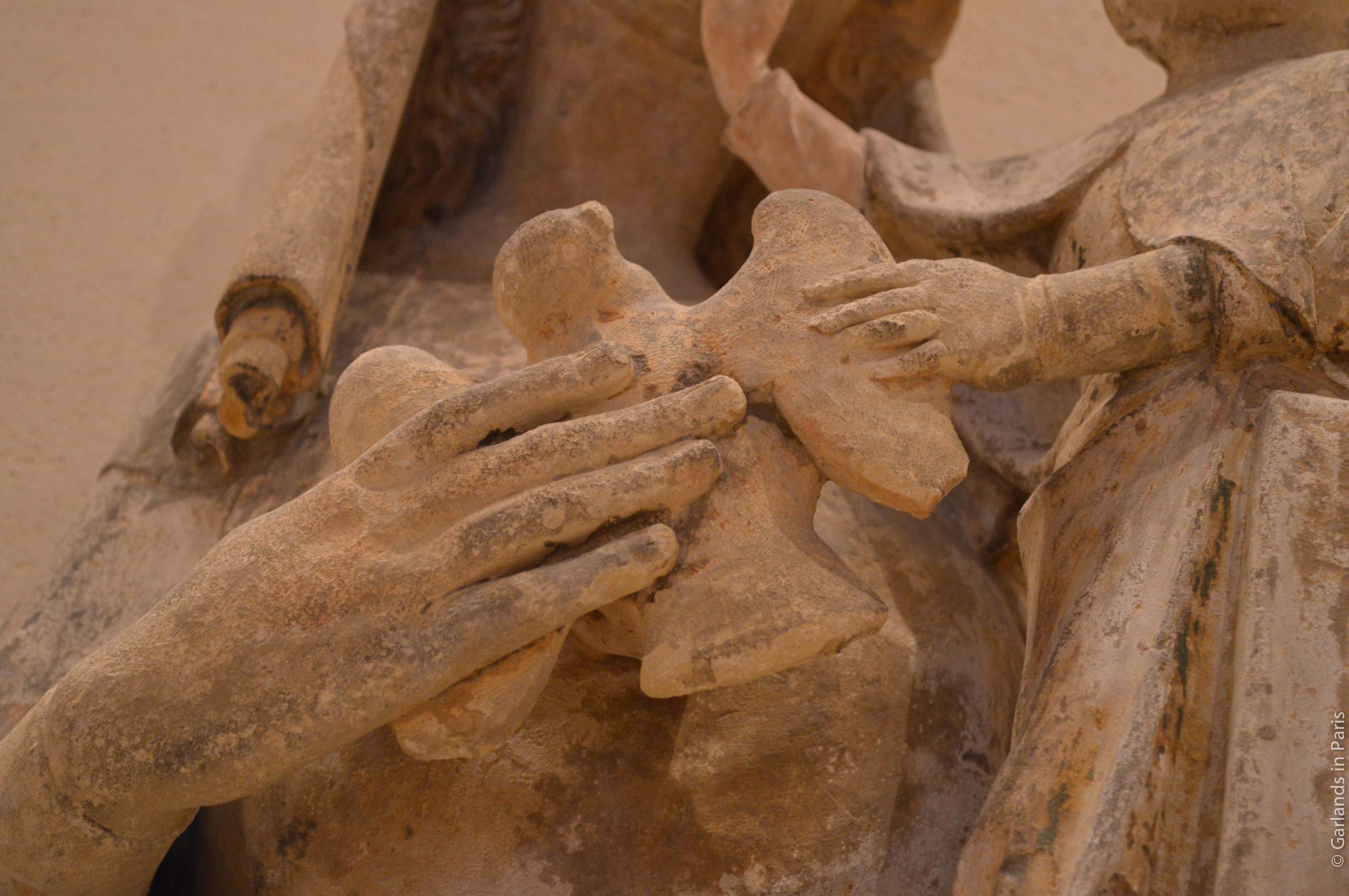 Louvre Museum Statue Hand Bird