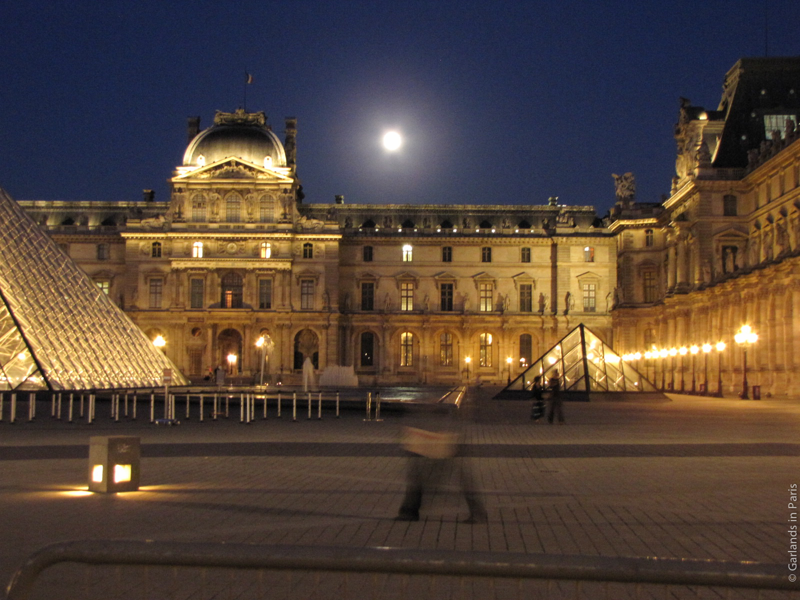 Full Moon Louvre Museum Paris