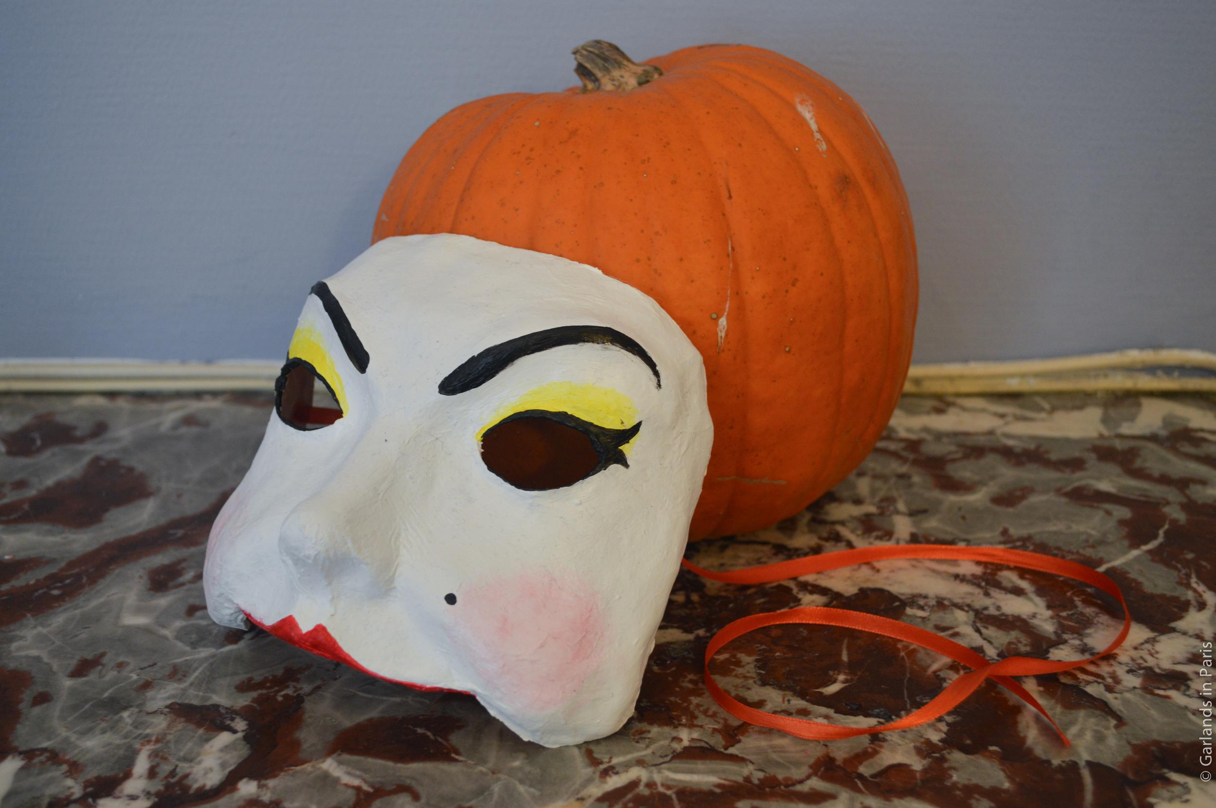 Papier Mache Mask Pumpkin