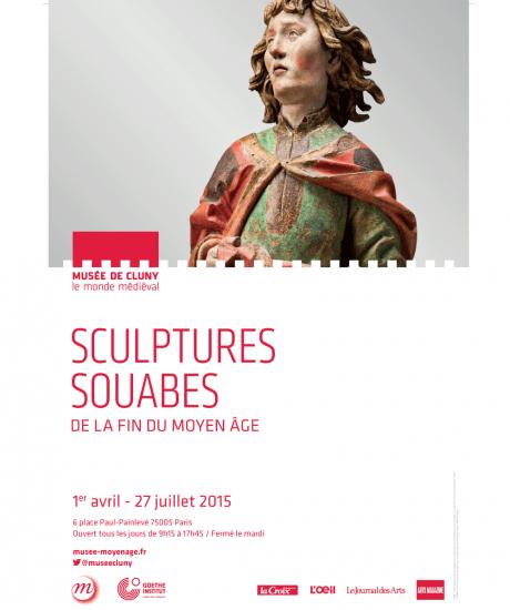 Poster, Exposition Sculptures Souabes, Musée de Cluny, Paris