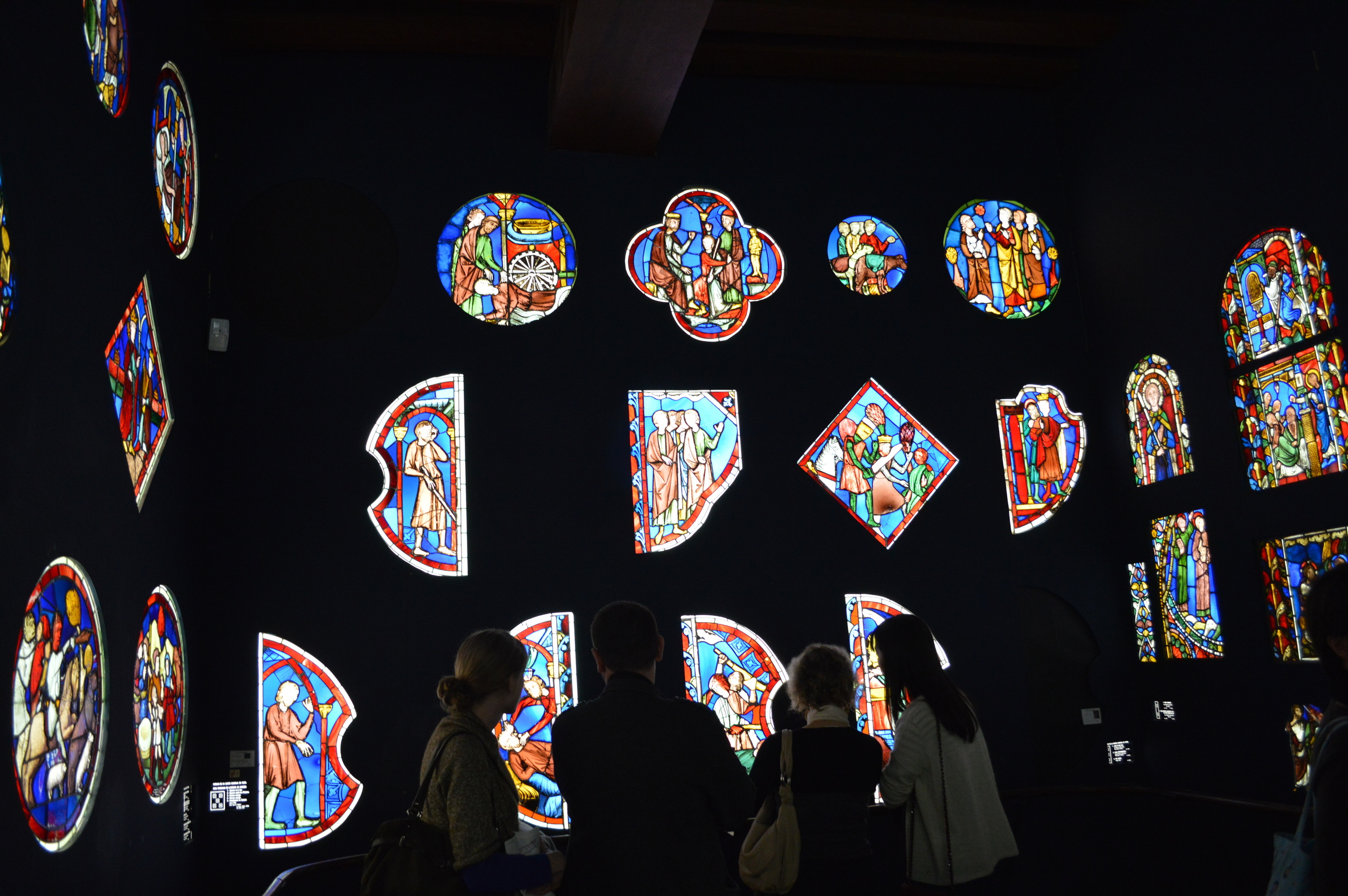 Musée de Cluny, Paris, stained glass