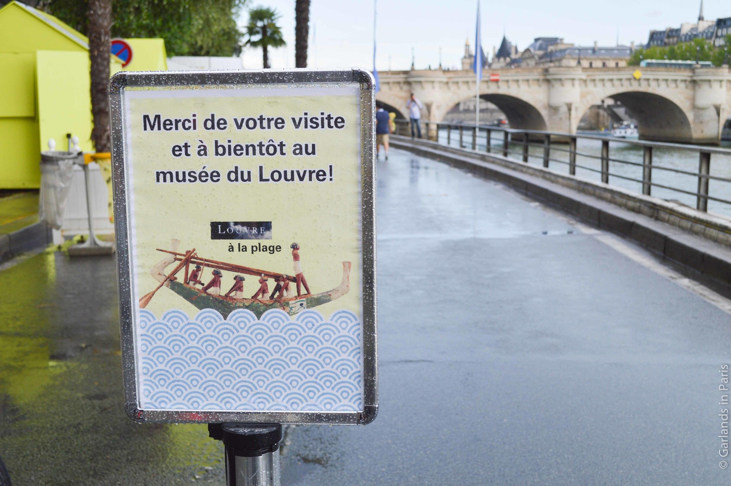 Louvre Paris Plages
