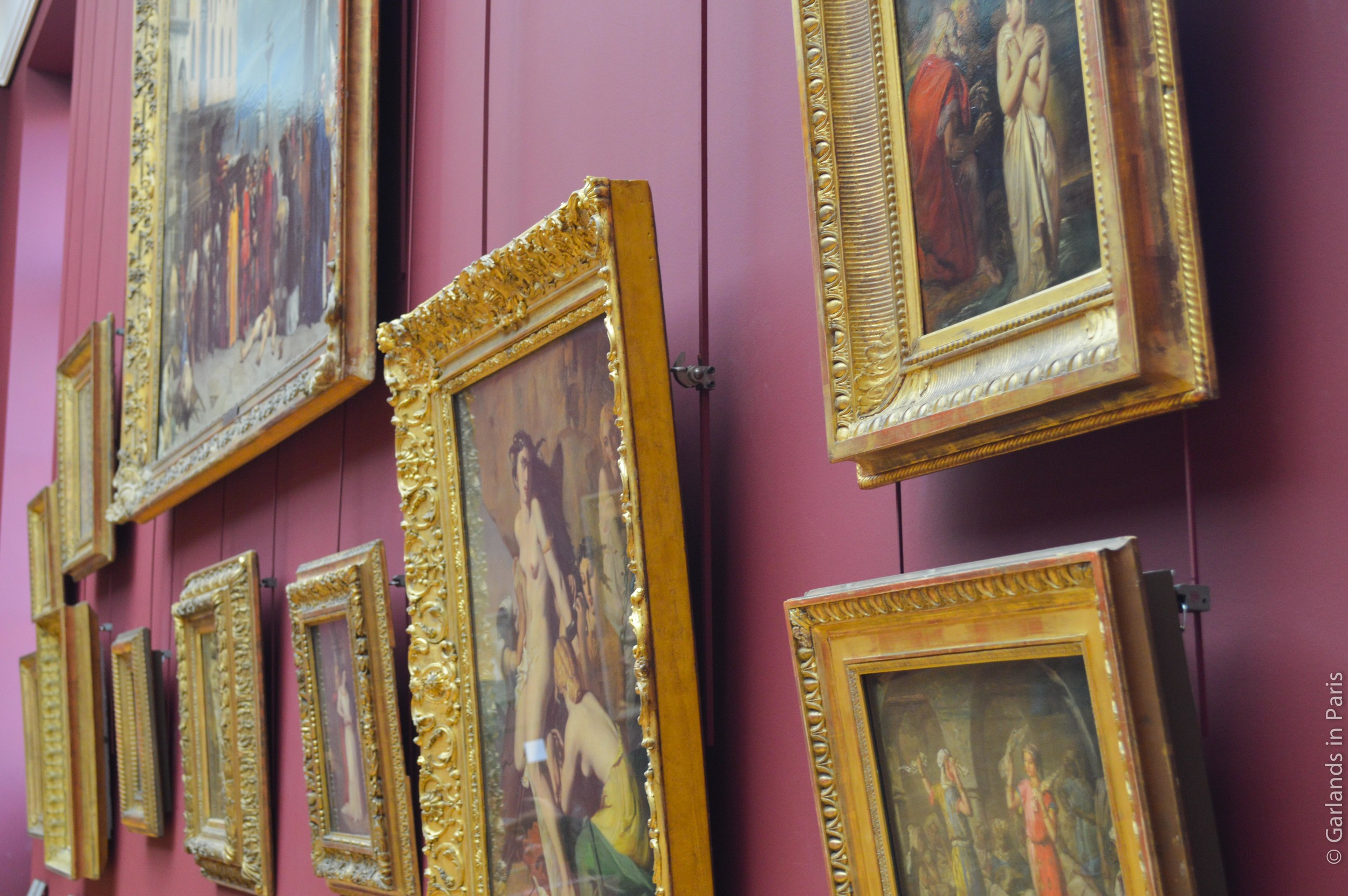 Louvre, Paris, French Paintings, Frames