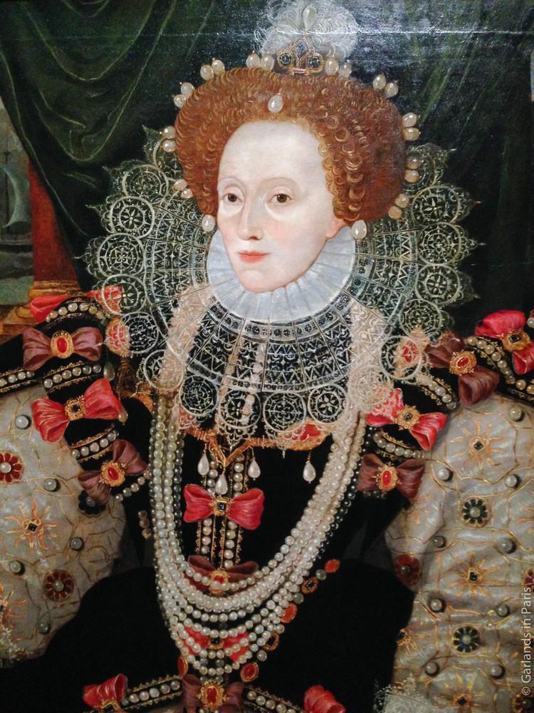 Queen Elizabeth, painting portrait, Musée du Luxembourg, Les Tudors