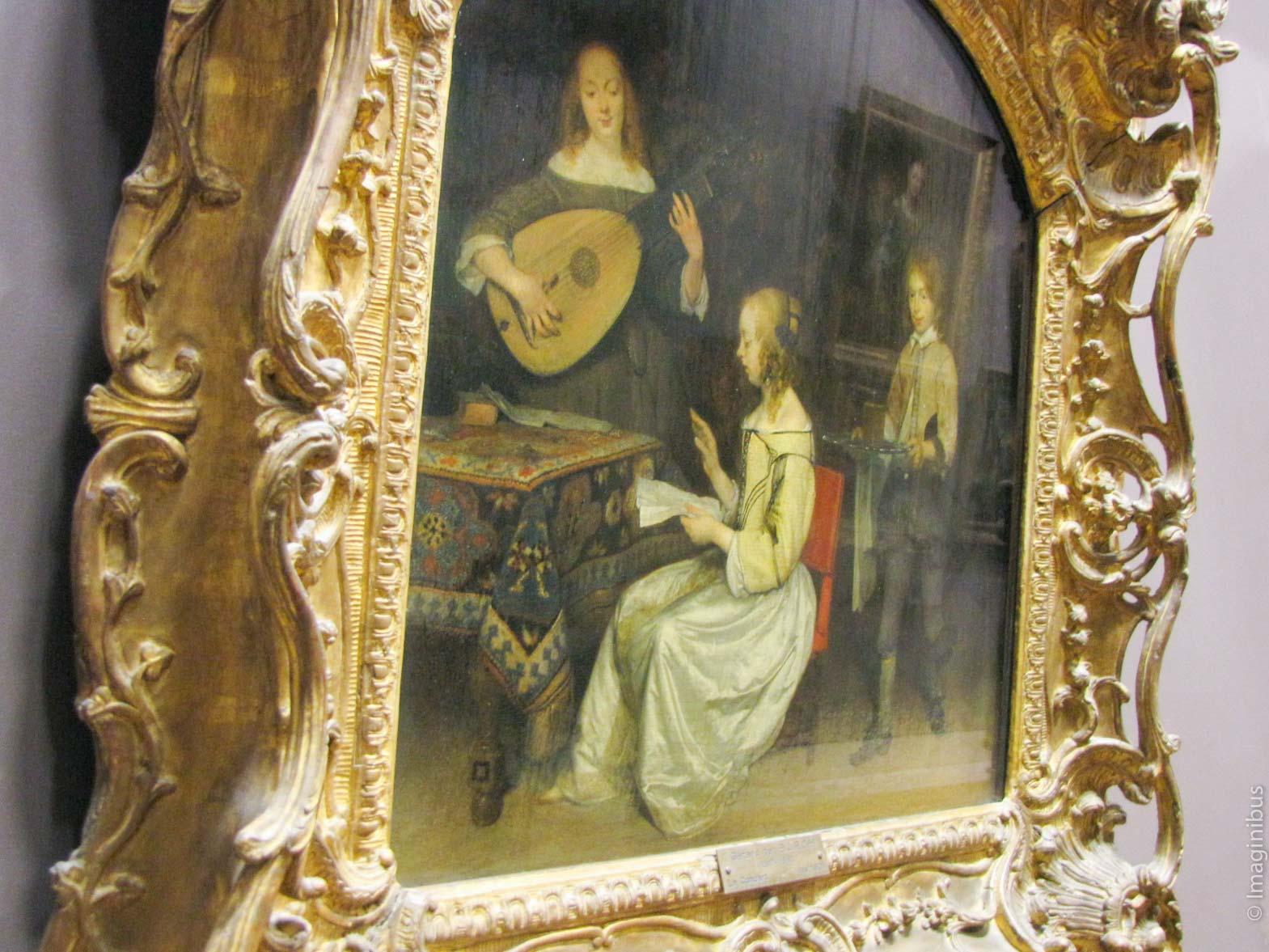 Dutch home, singing, Musée du Louvre
