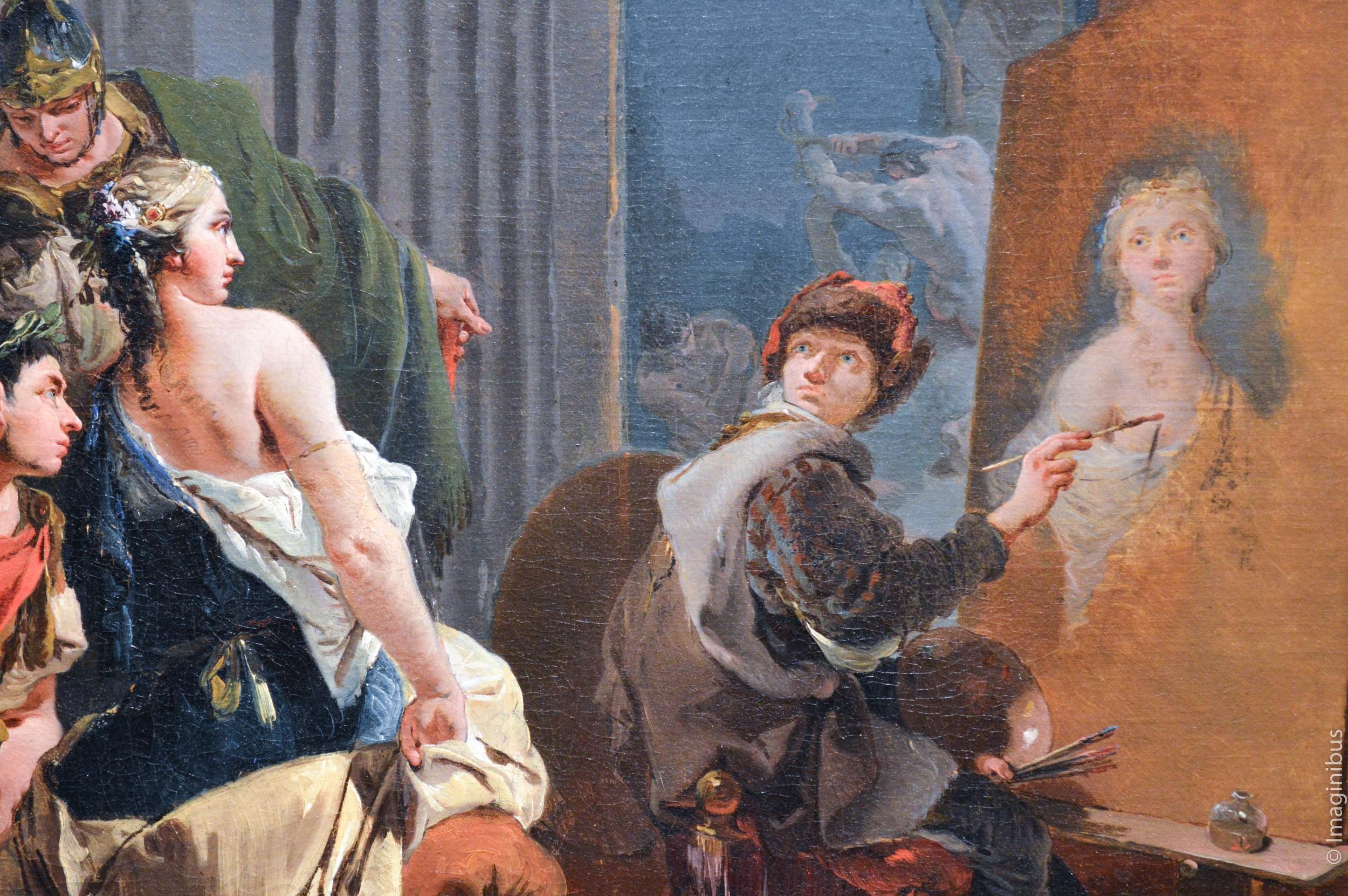 Montreal Museum of Fine Arts, Tiepolo, Apelles Painting the Portrait of Campaspe, Condesa de Castelblanco,