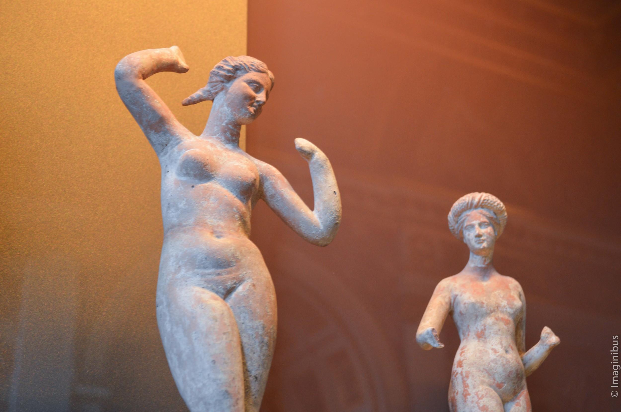 Louvre, Greek Terracotta Statue, Nude Woman