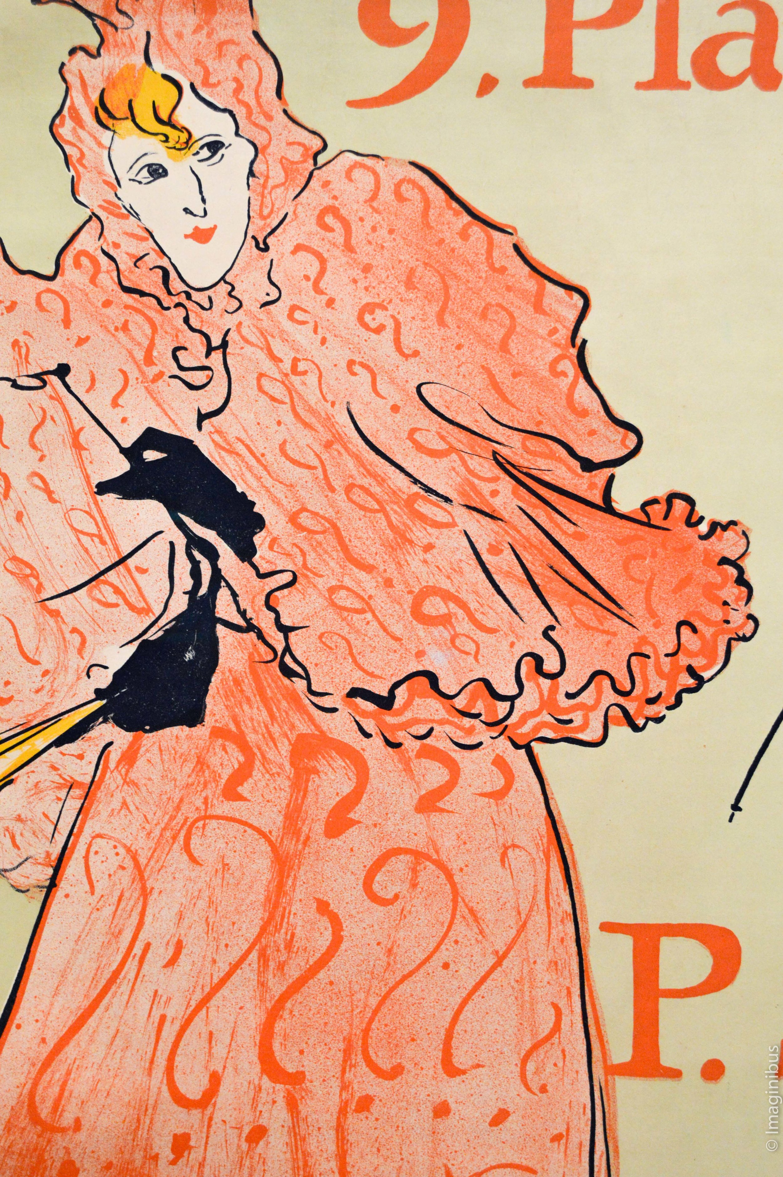 Toulouse Lautrec Poster Woman Pink