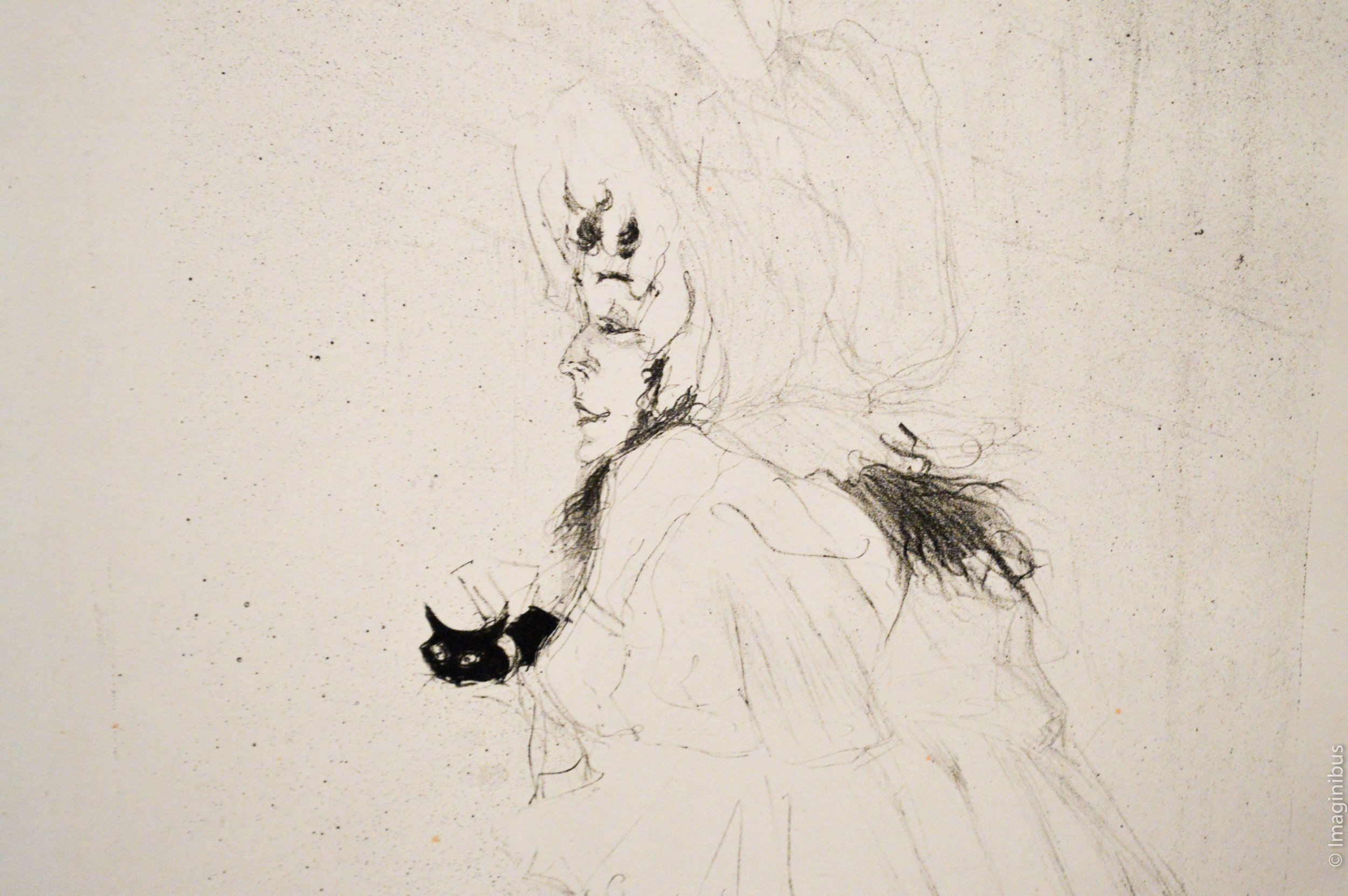 Toulouse Lautrec Poster Woman Cat