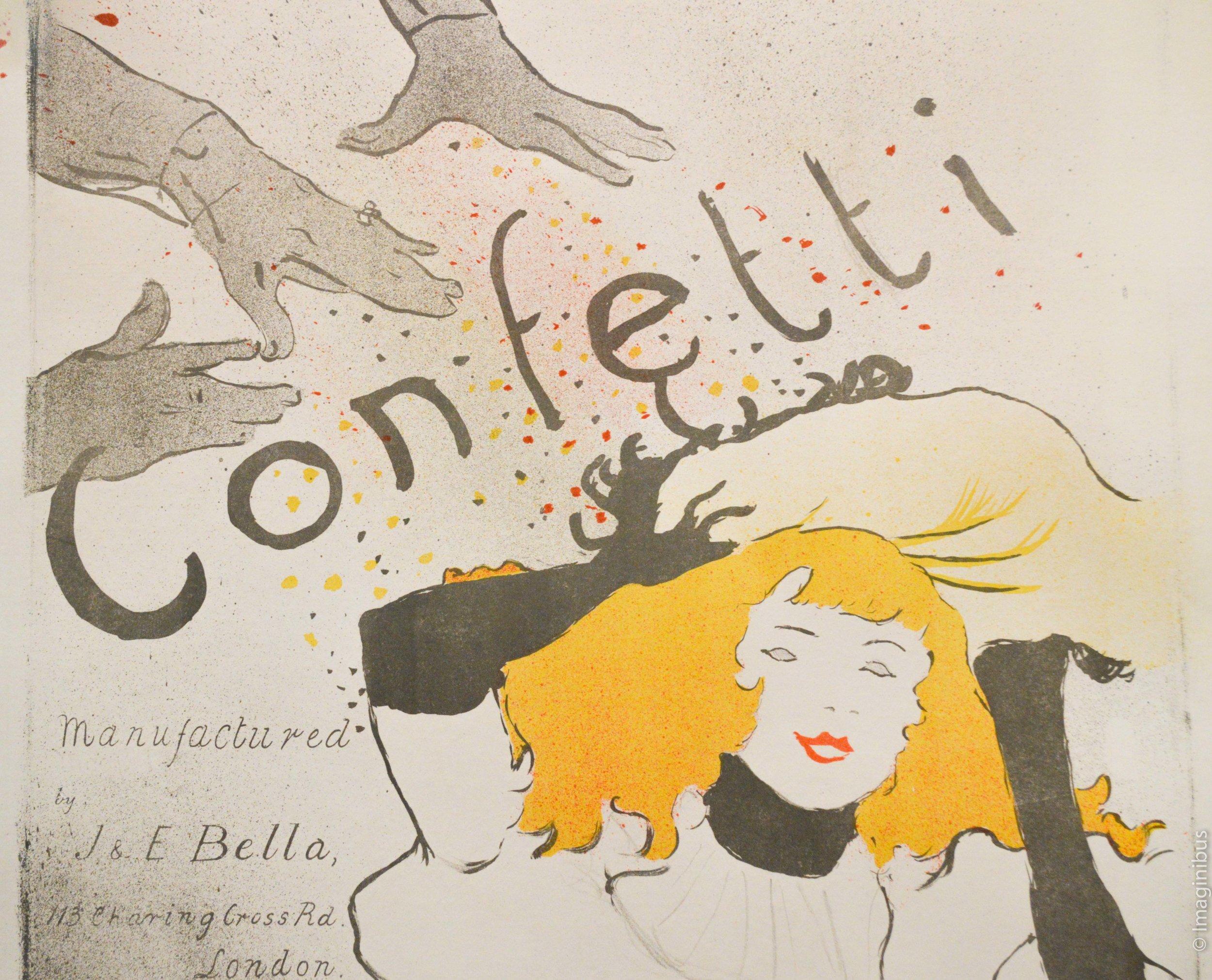 Toulouse Lautrec Poster Woman Confetti