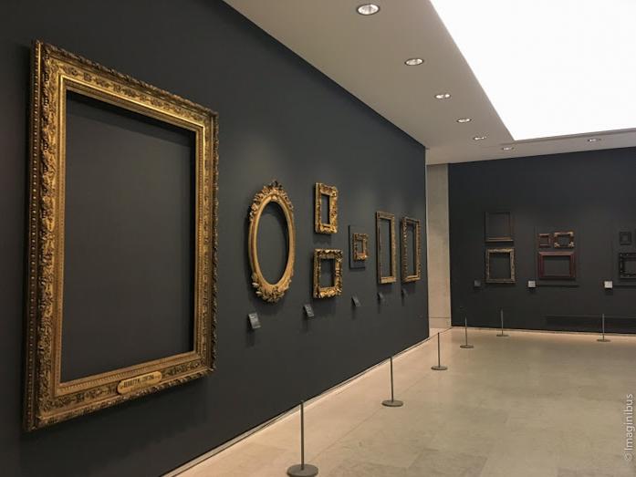 Regards sur les cadres Louvre Museum Empty Frames