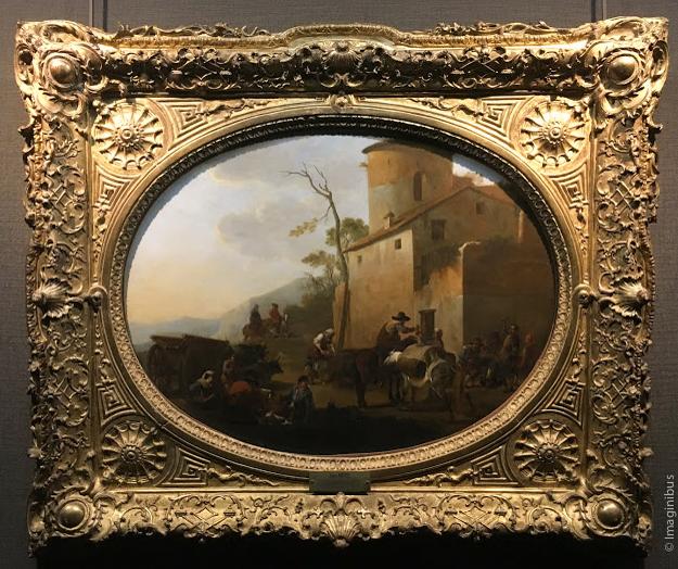 Lingelbach La Dînée des voyageurs Louvre Museum