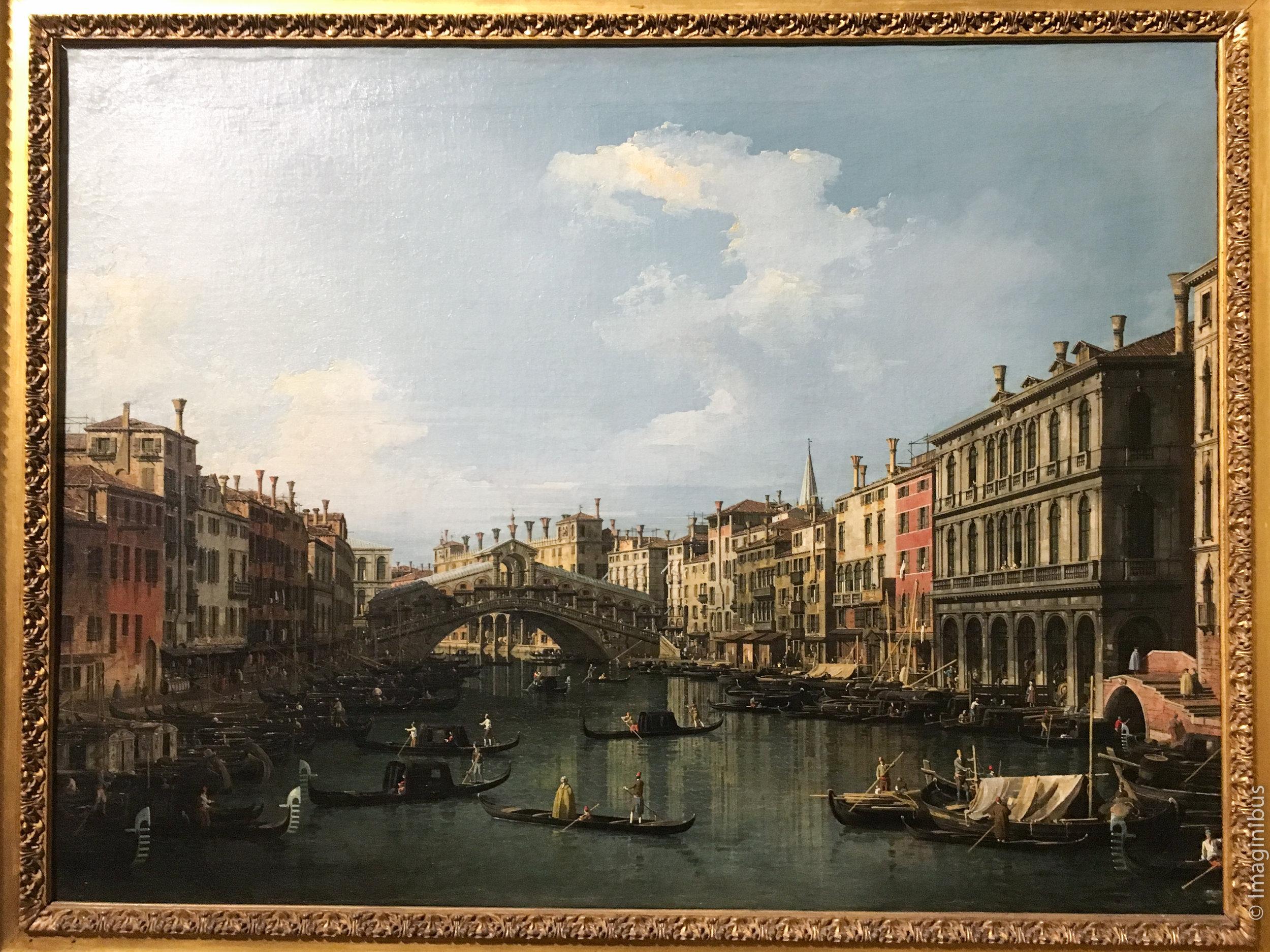 Palazzo Barberini Canaletto Venice the Rialto Bridge