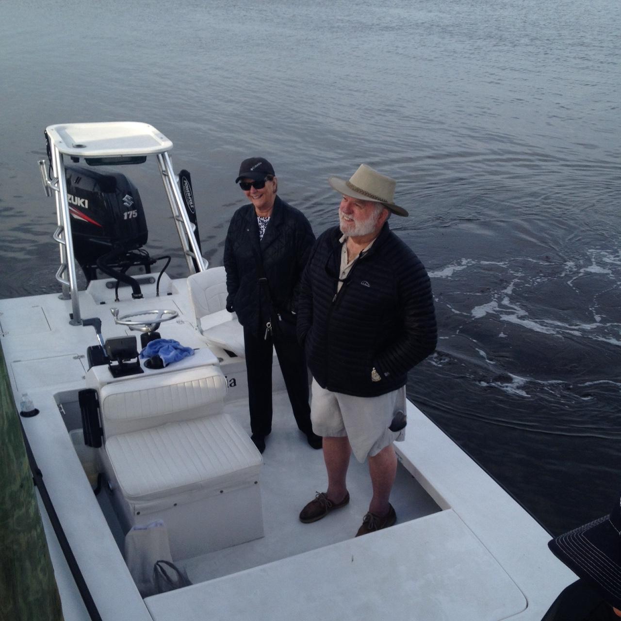 Papa Tom and Mama Linda off to fish.