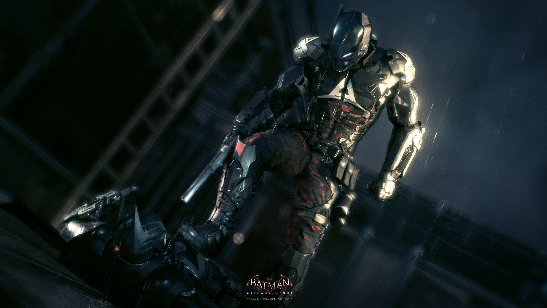 First glimpse of the new Arkham villain, only known as Arkham Knight.
