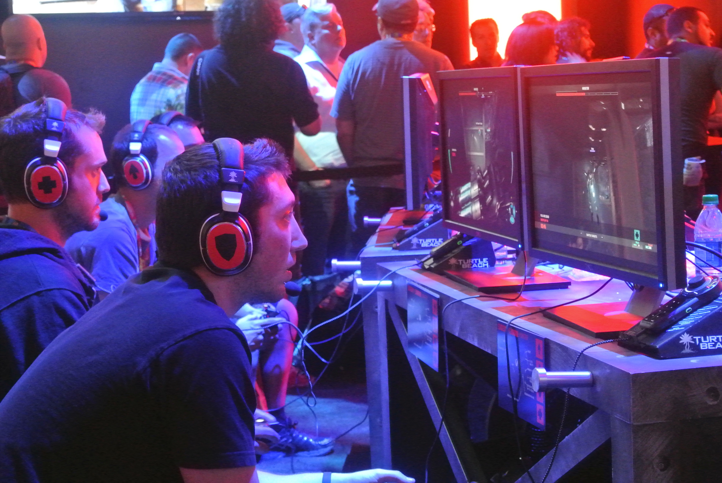 One team plays against a Monster player in  Evolve , seen above.