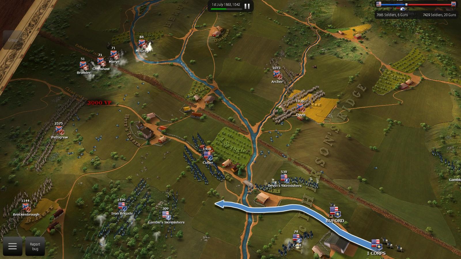 Ultimate Battle: Gettysburg screenshot by Zach Yost.