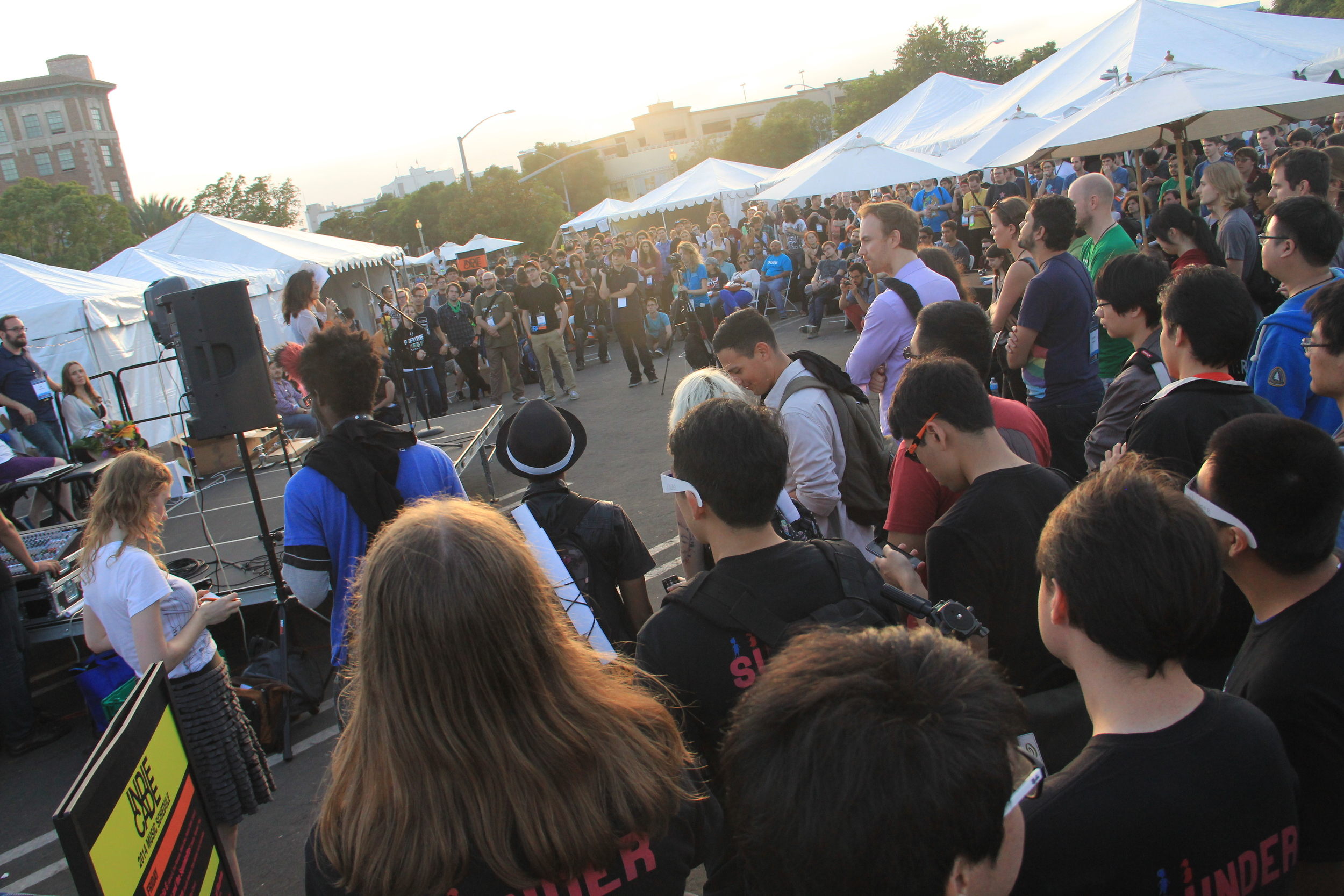Photo of Indiecade participants by Bryant Francis.