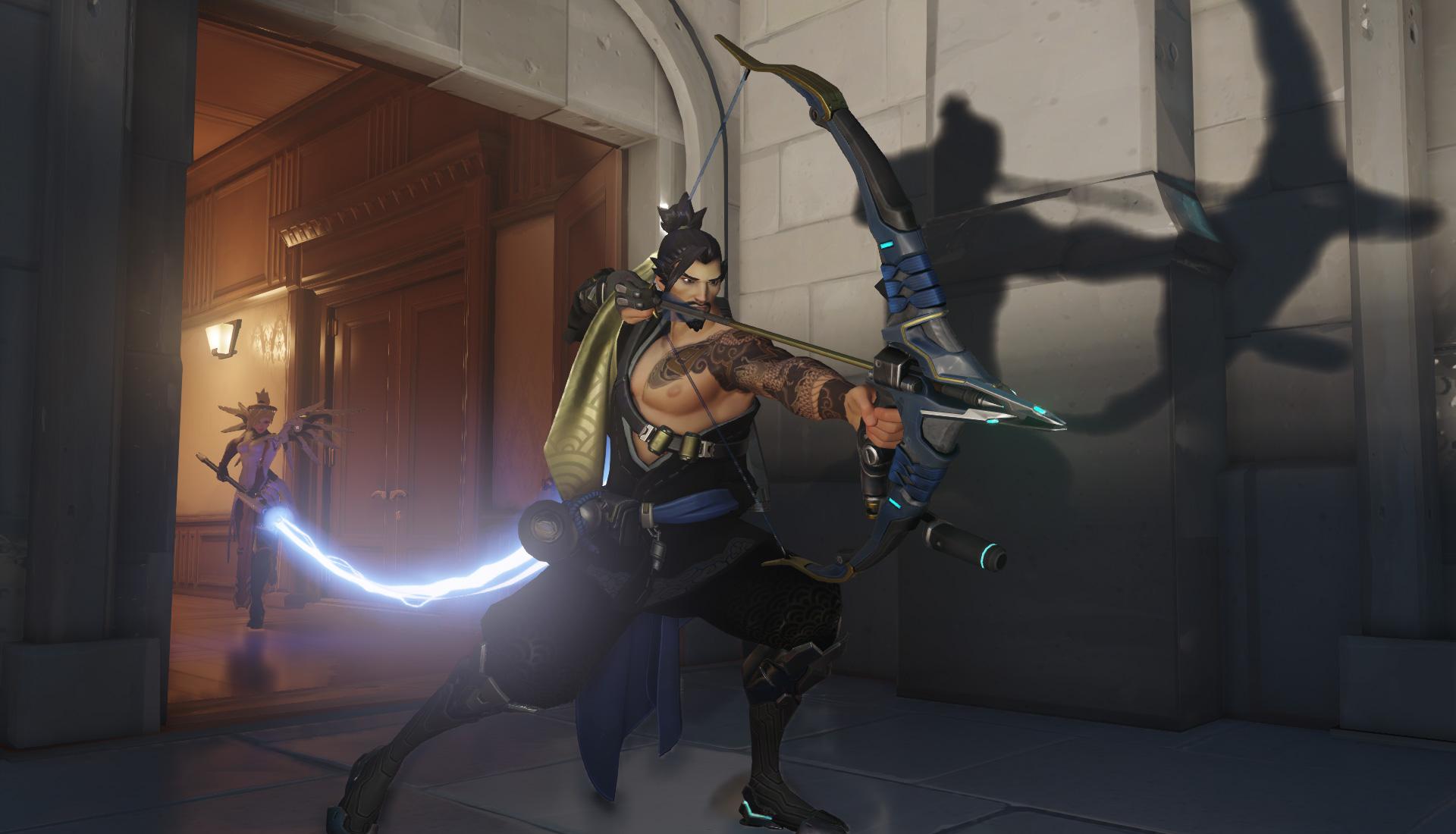 Screenshot of Hanzo from  Blizzard's  Overwatch   .