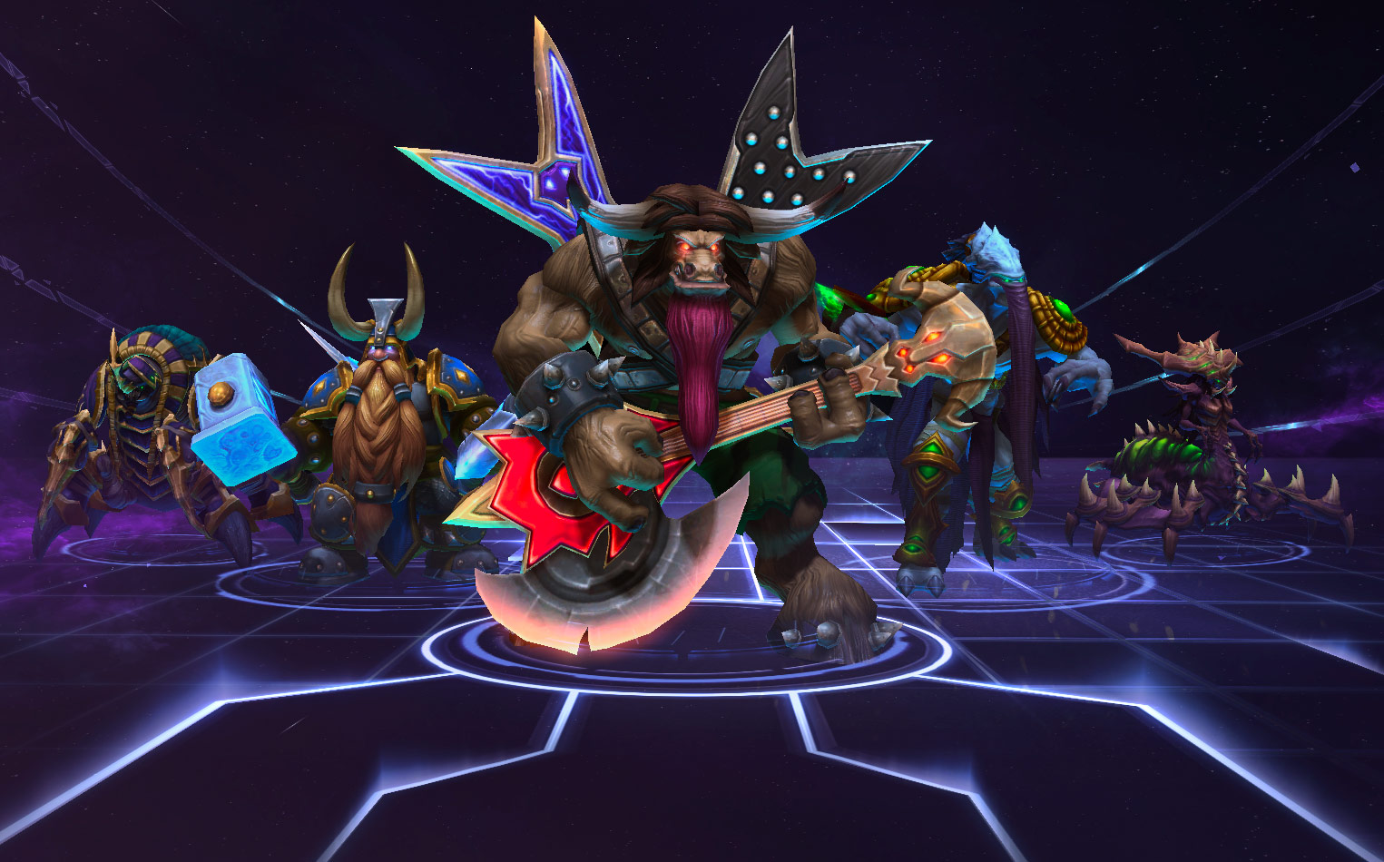 Image of Heroes of the Storm    characters from Blizzard.
