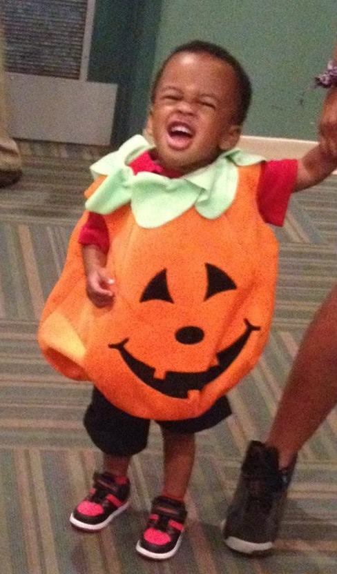 Halloween 2014: Pumpkin cuteness overload with our little Justice at Covenant House