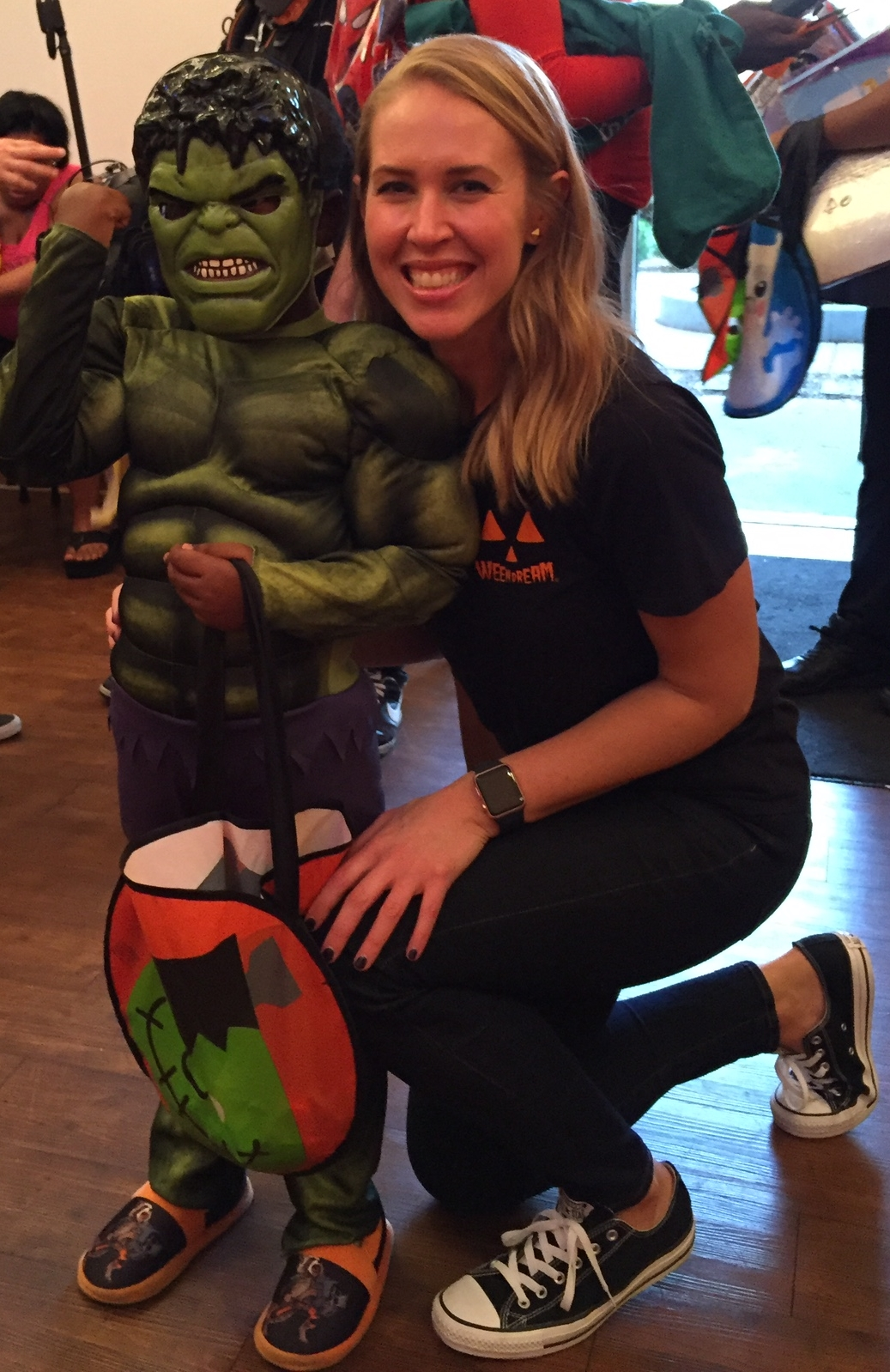 The Hulk and 'WEEN DREAM Founder Kelsey at Covenant House New Orleans on October 21, 2015