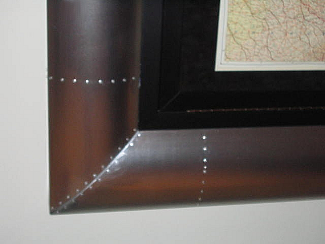 Aluminum Map Frame Closeup
