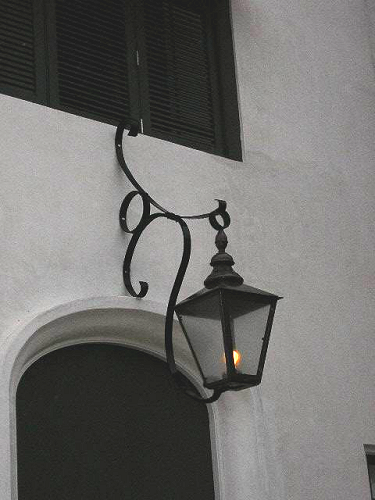 Steel Scroll Lantern Closeup