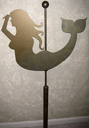 Mermaid Weathervane Closeup