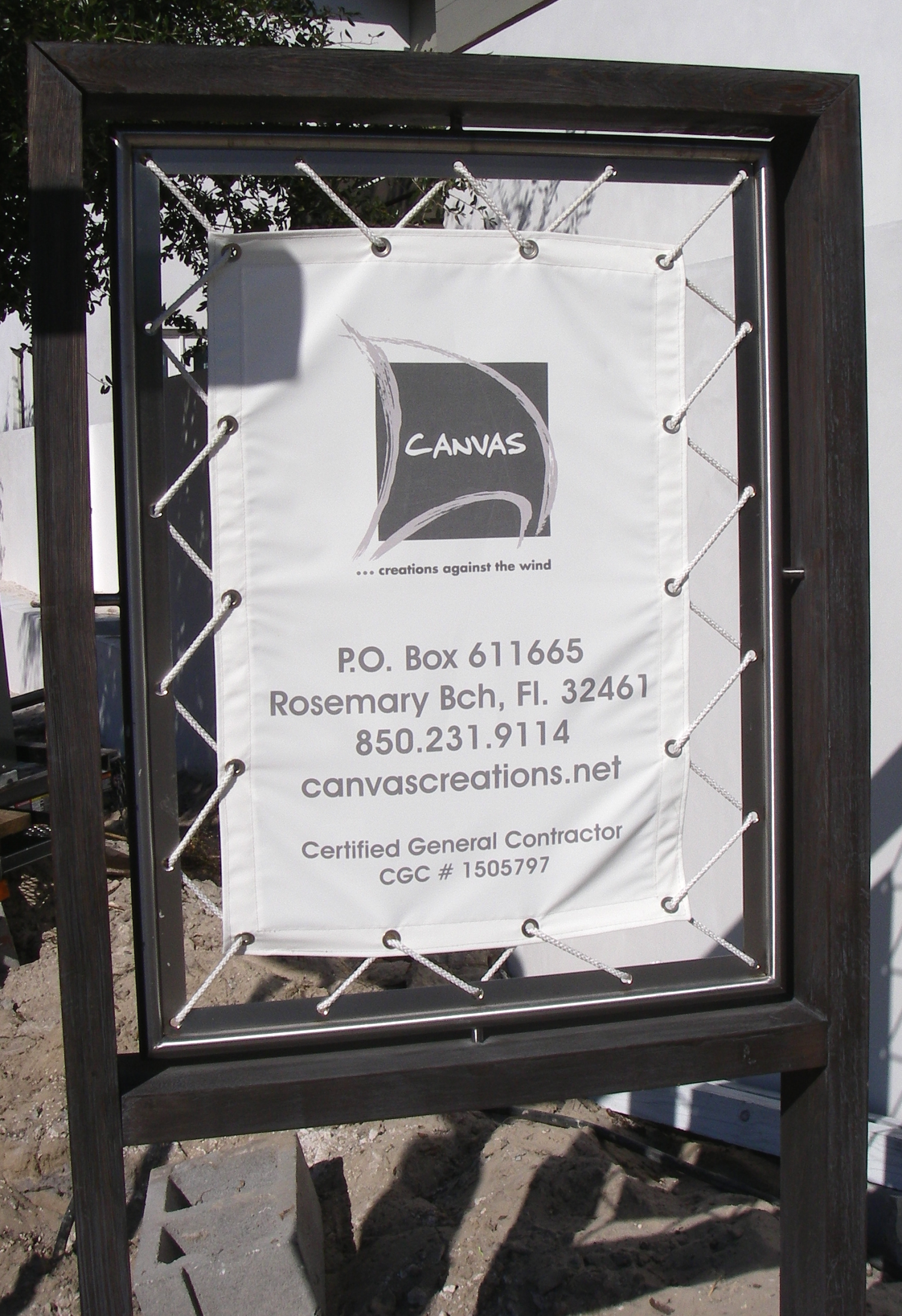 Stainless Steel Sign Frame