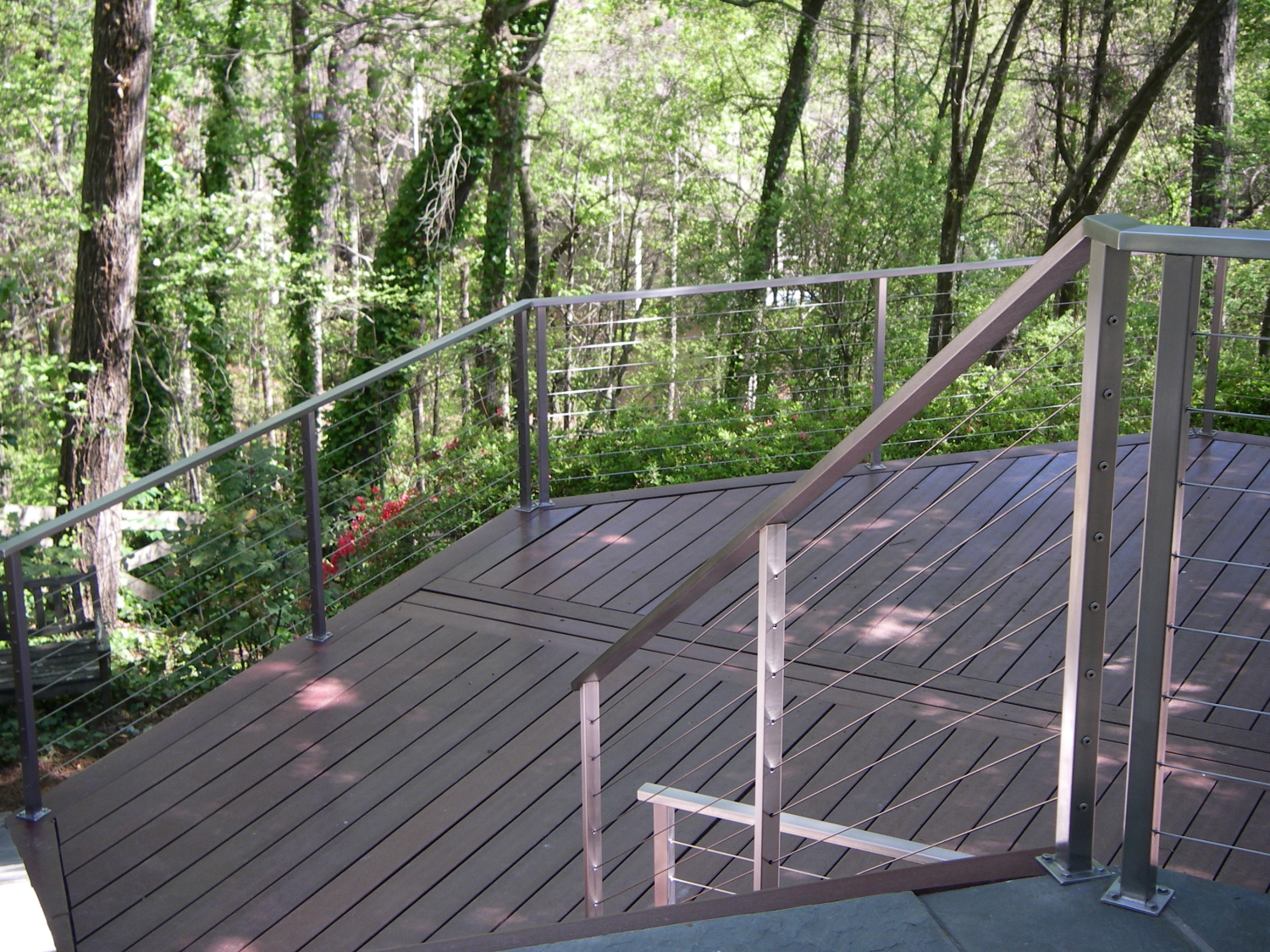 Stainless Steel Rectangle Tube Cable Railing
