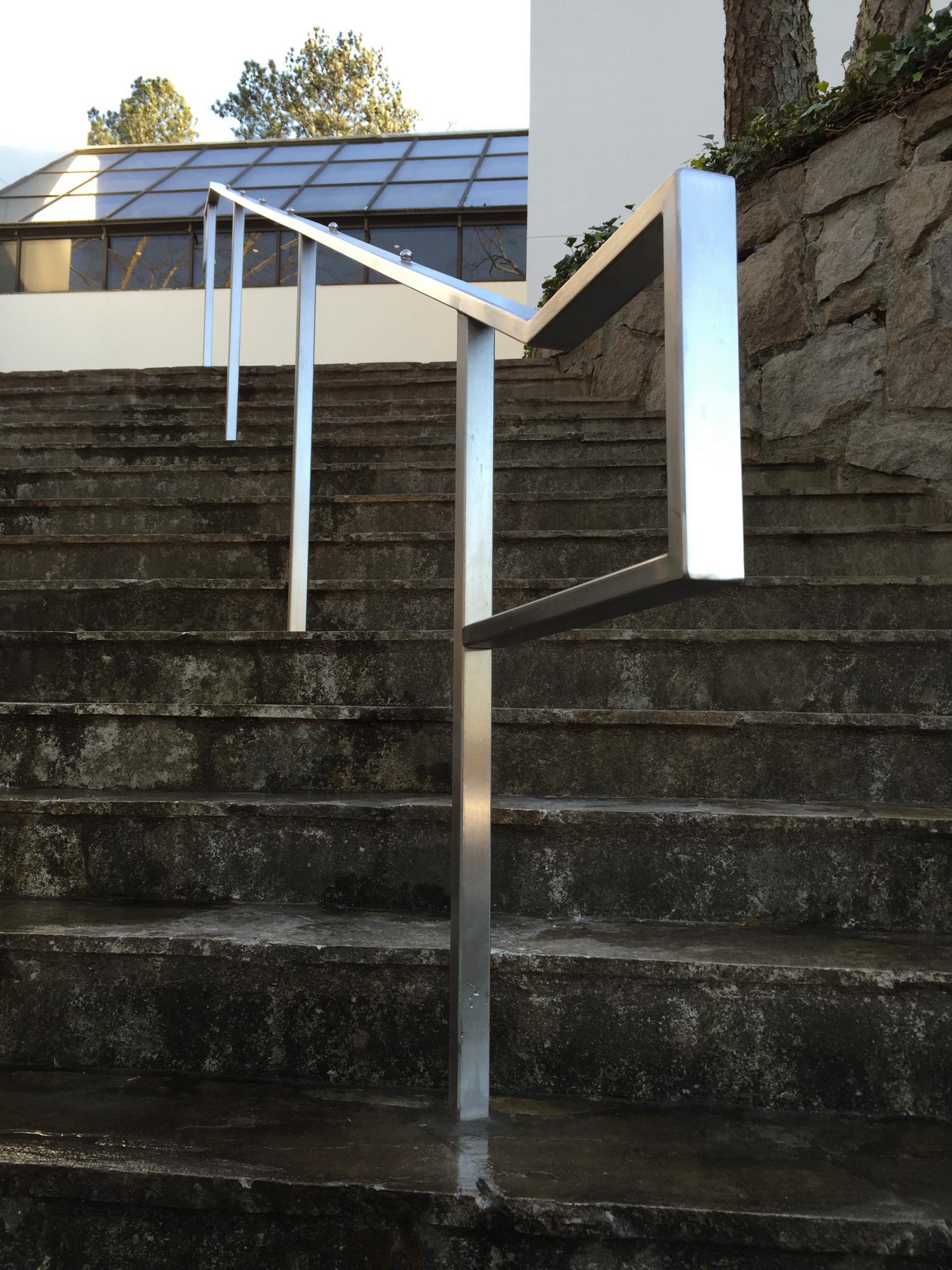 Stainless Hand Rail with Skateboarding Deterrents