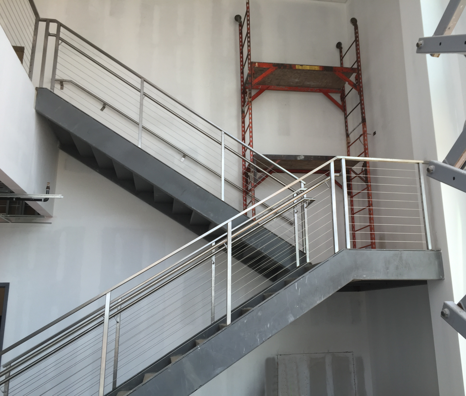 Stainless Steel Guardrail with Integrated Handrail