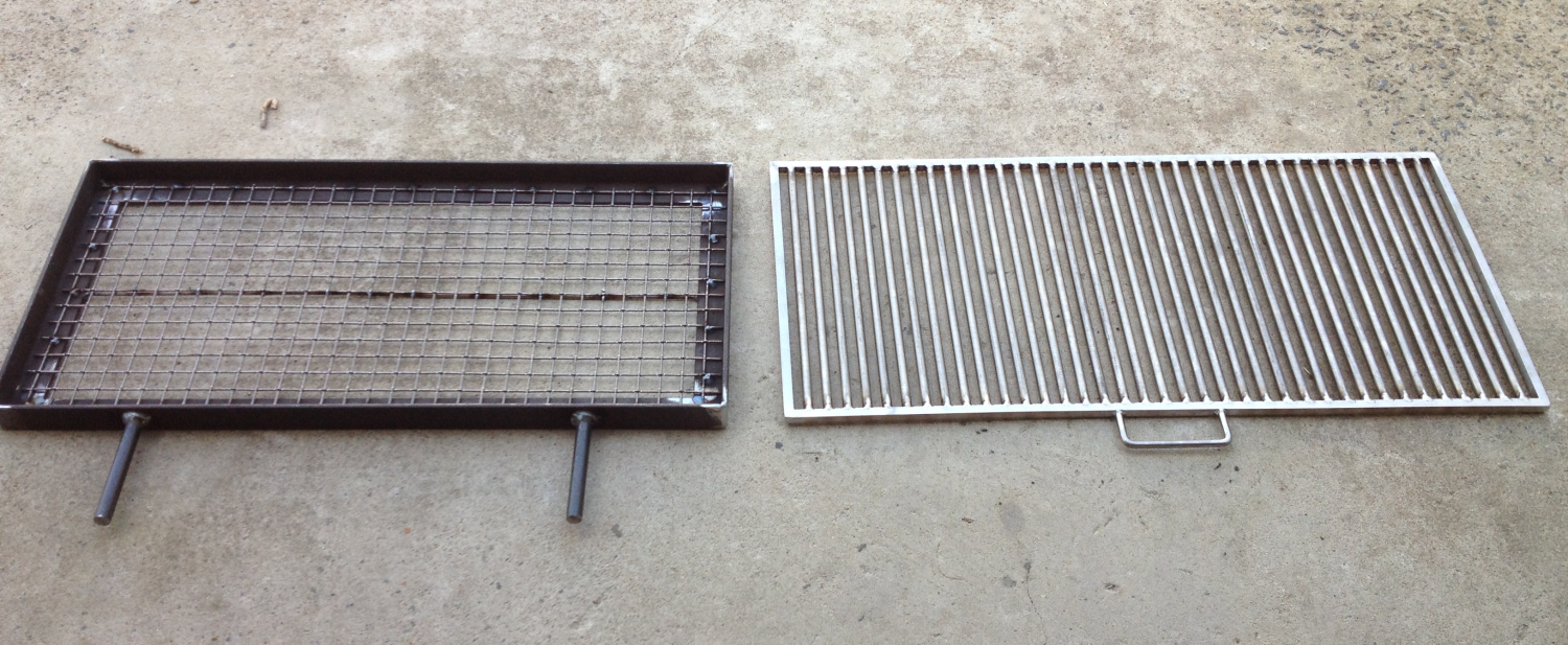 Stainless Steel Grill & Steel Mesh Charcoal Tray