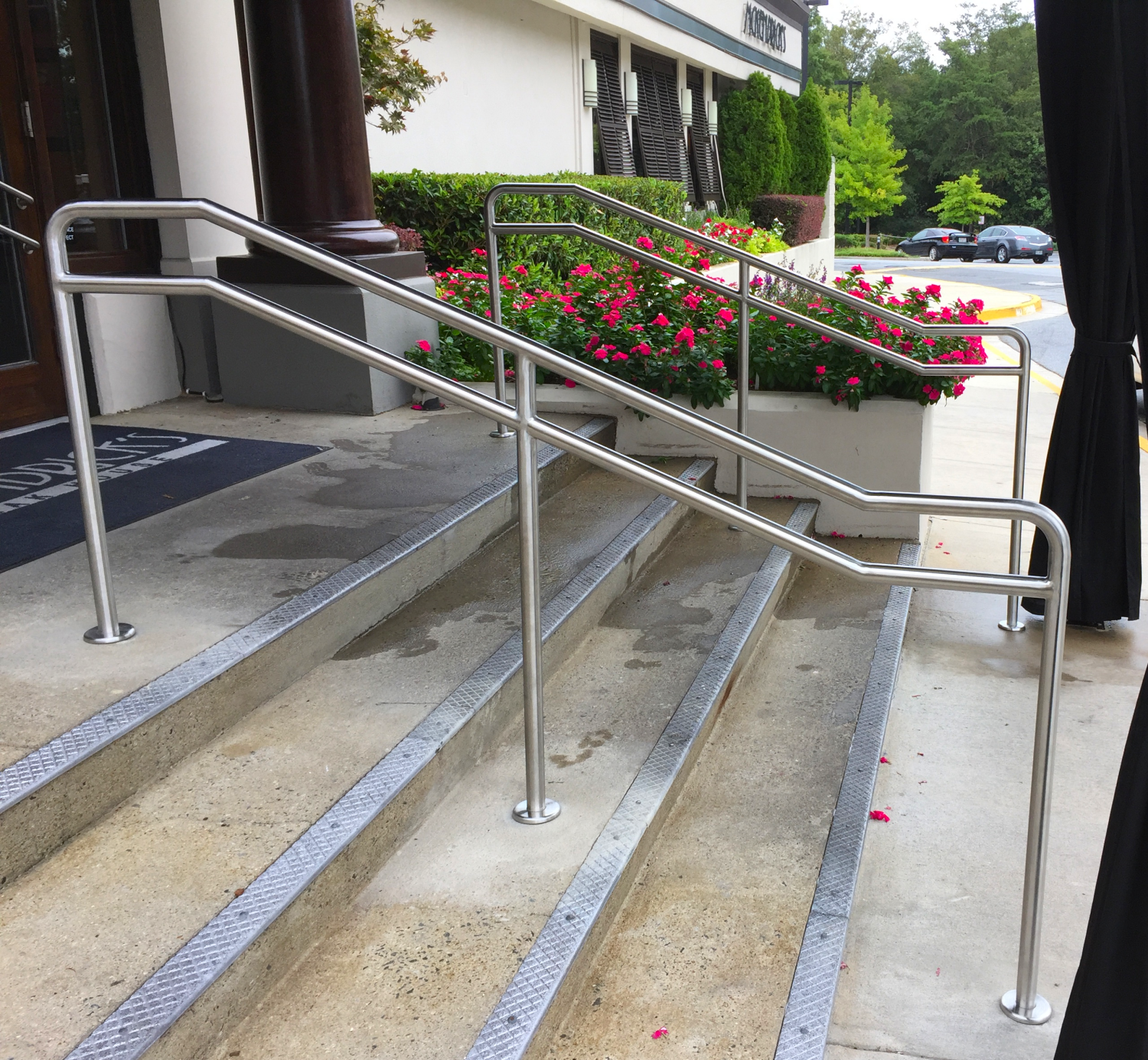 Double Line Stainless Steel Tube Railing