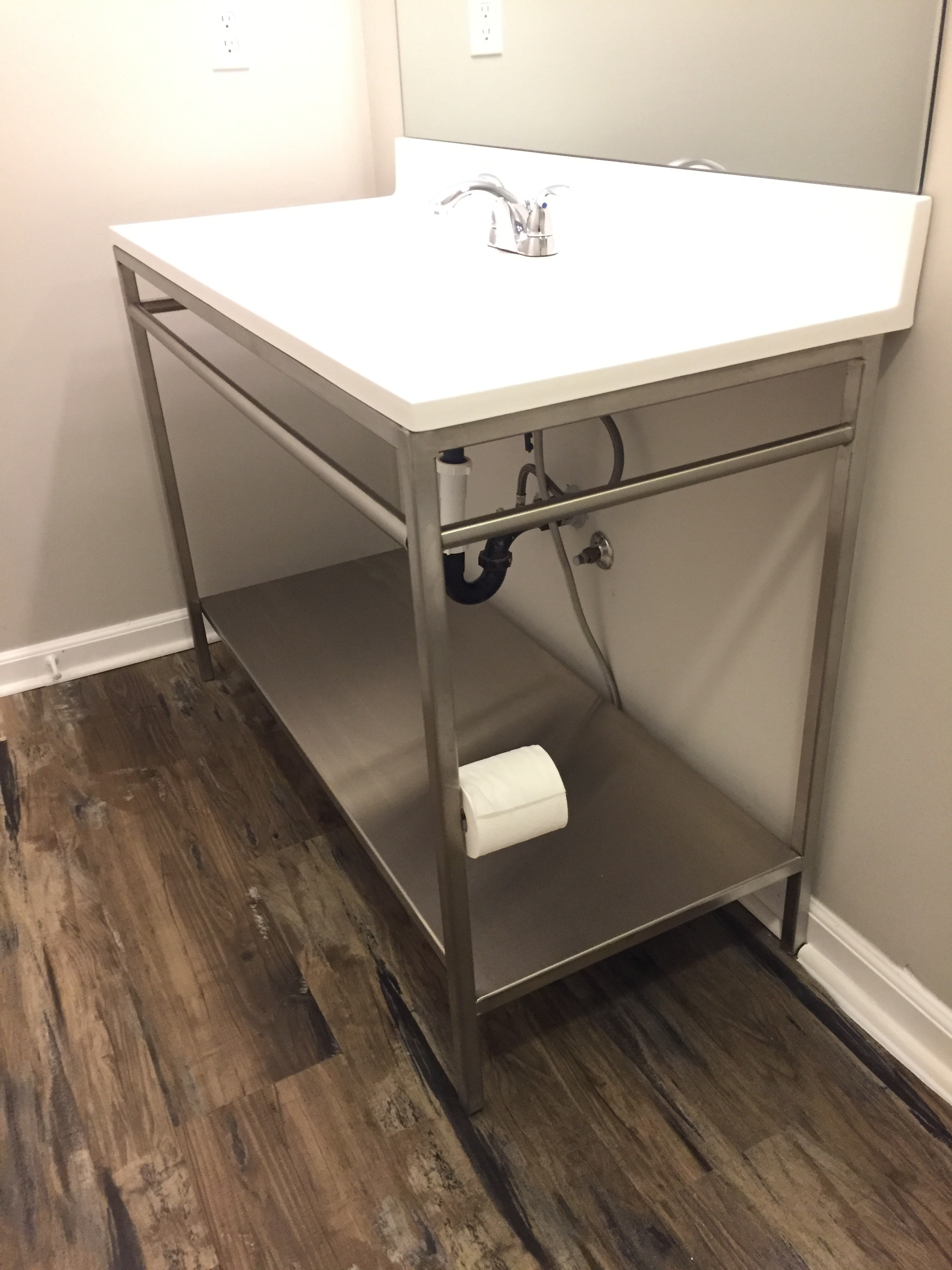 Stainless Steel Vanity Stand