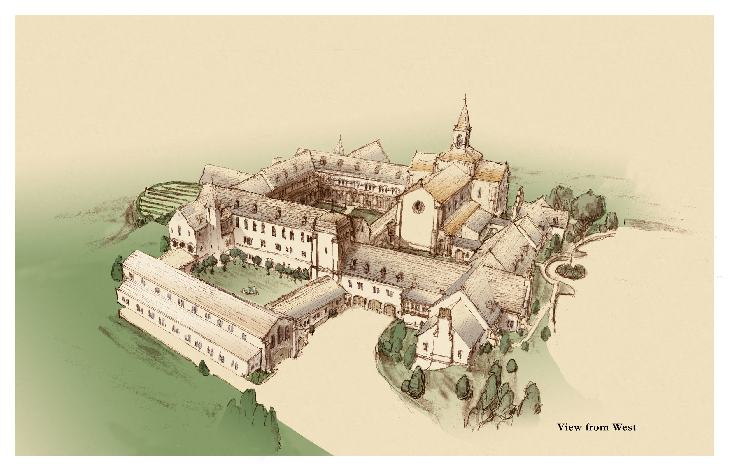 Valley of Our Lady Monastery, Unbuilt Project, Citation Award for Design Excellence