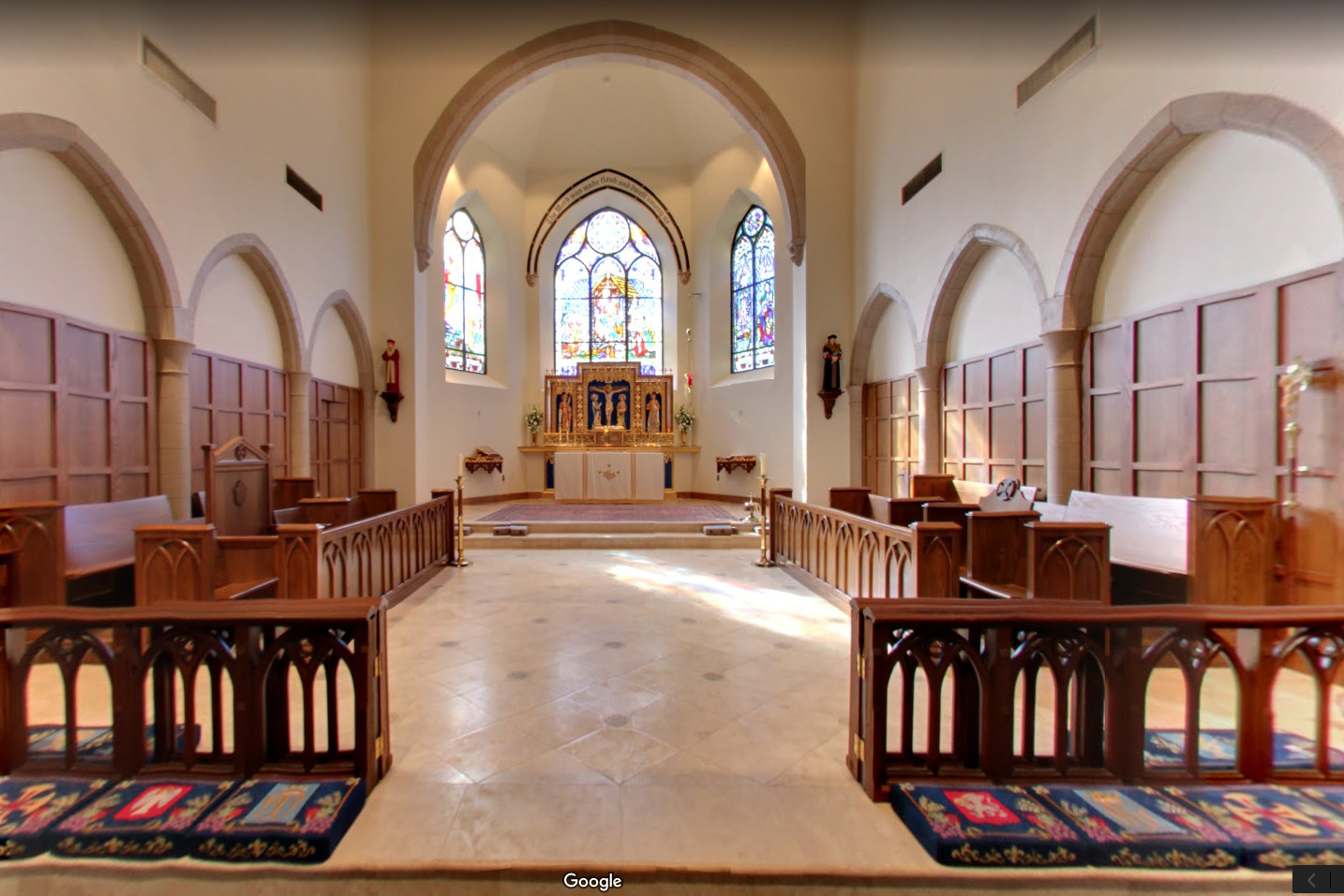 3-D Interactive walk through of The Cathedral Church of Our Lady of Walsingham Houston Texas