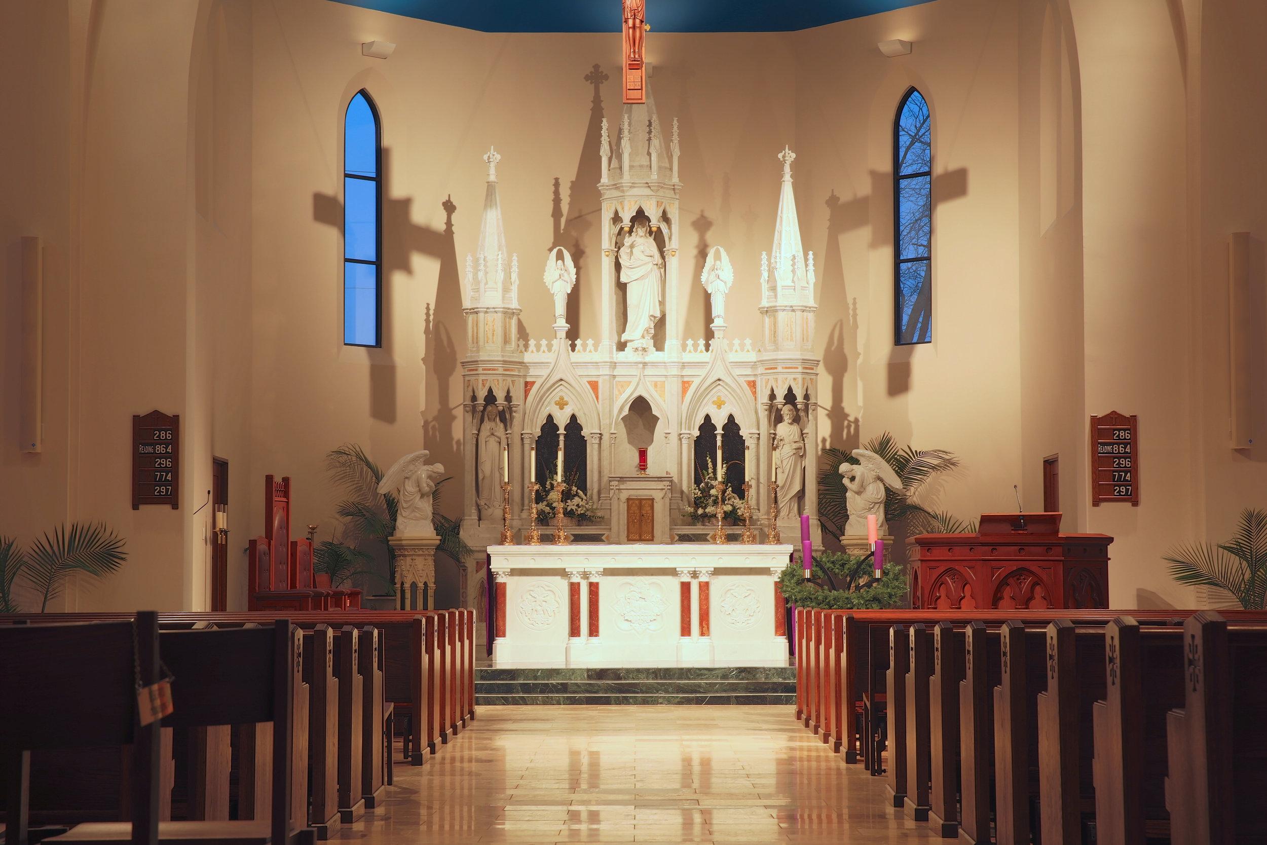 3-D interactive walk through of St. Kateri in Ridgway, Illinois